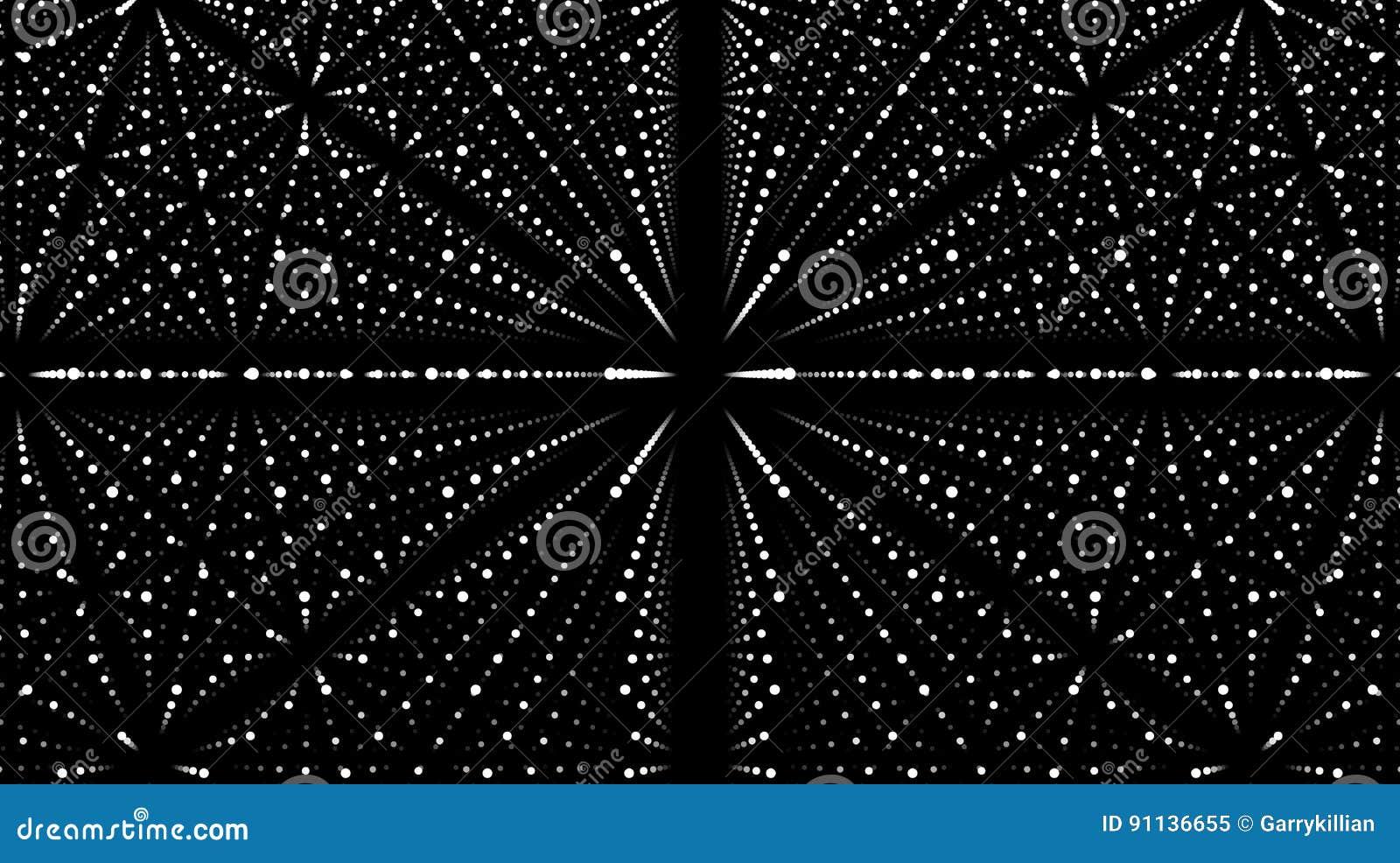 Fond Abstrait De Vecteur Matrix Des Points Blancs Avec L Illusion De
