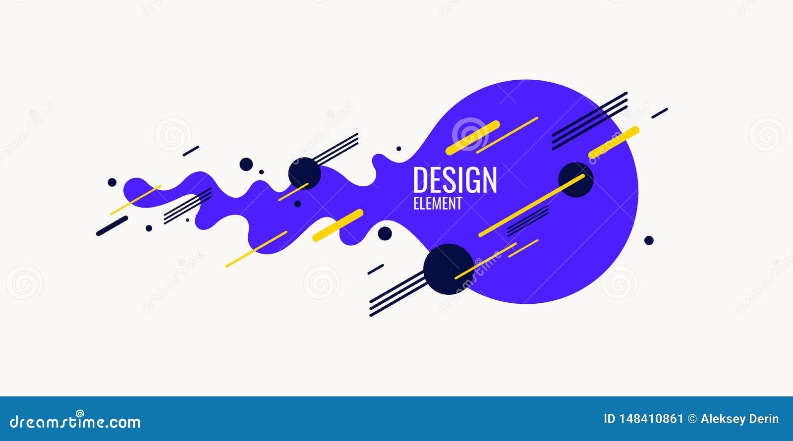 Fond abstrait dernier cri Composition des formes et des lignes amorphes