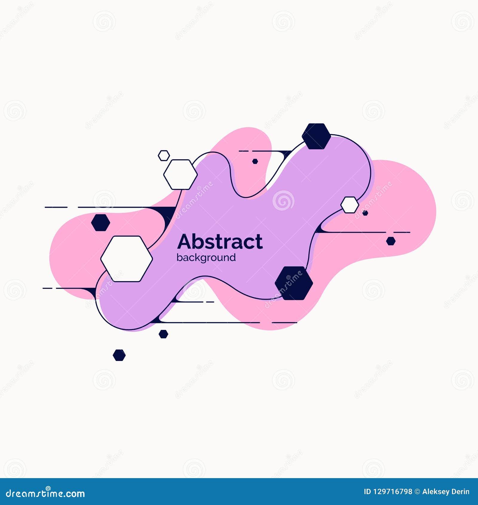 Fond abstrait dernier cri Composition des formes géométriques et de l éclaboussure