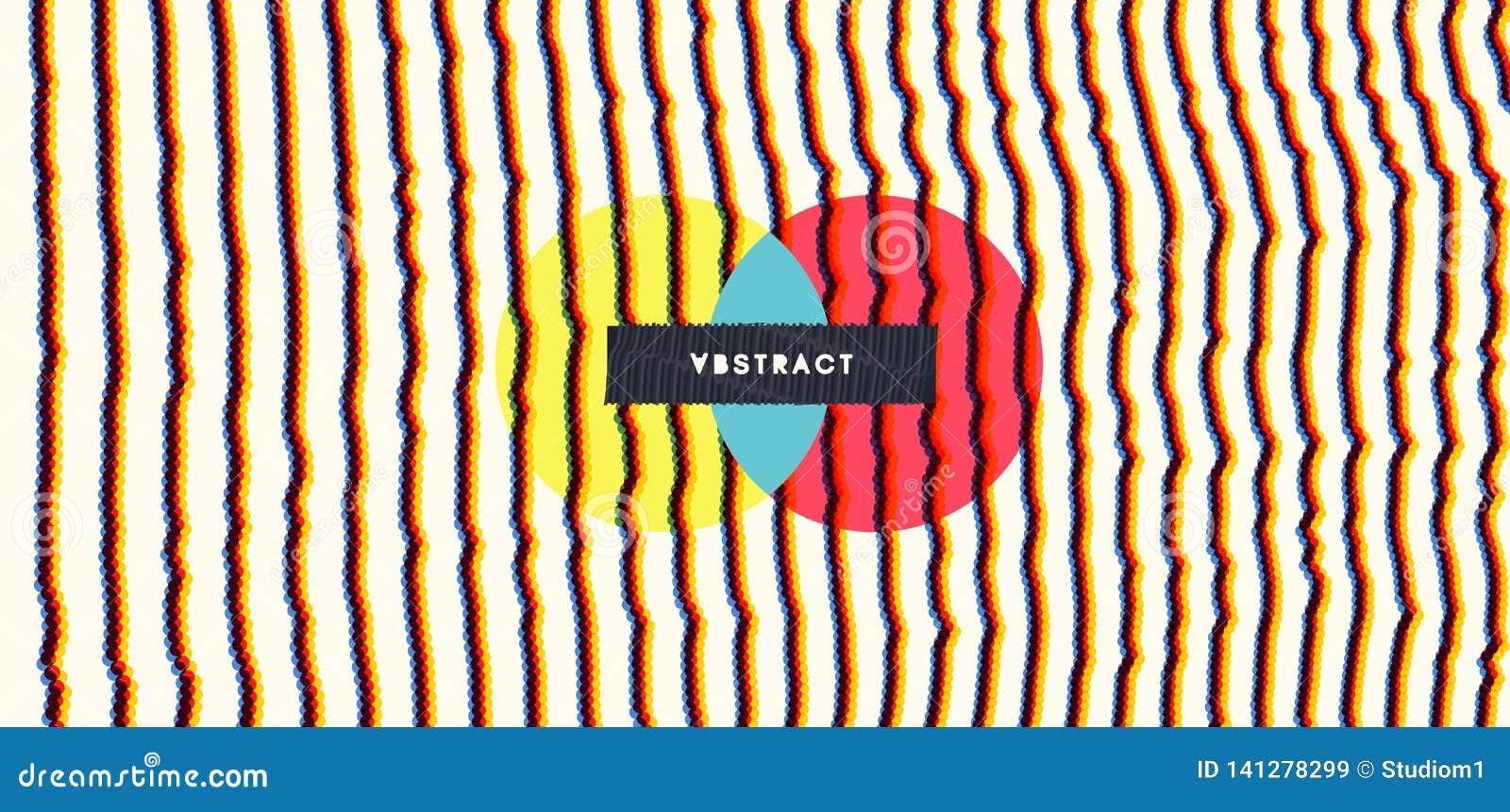Fond abstrait dernier cri Rangée avec les particules dynamiques Élément moderne de la science ou de technologie Illustration de g