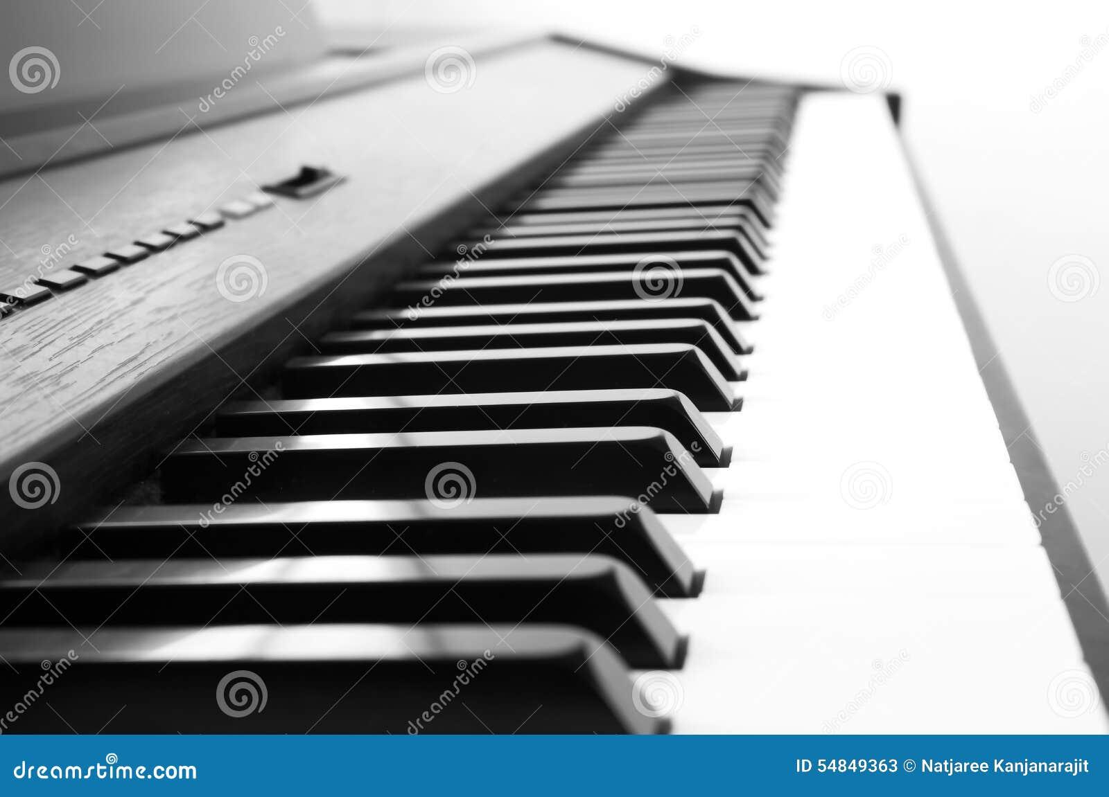 Fond abstrait et de tache floue l 39 ivoire blanc et les cl s noires d 39 un piano th noir et blanc - Blanc comme l ivoire ...