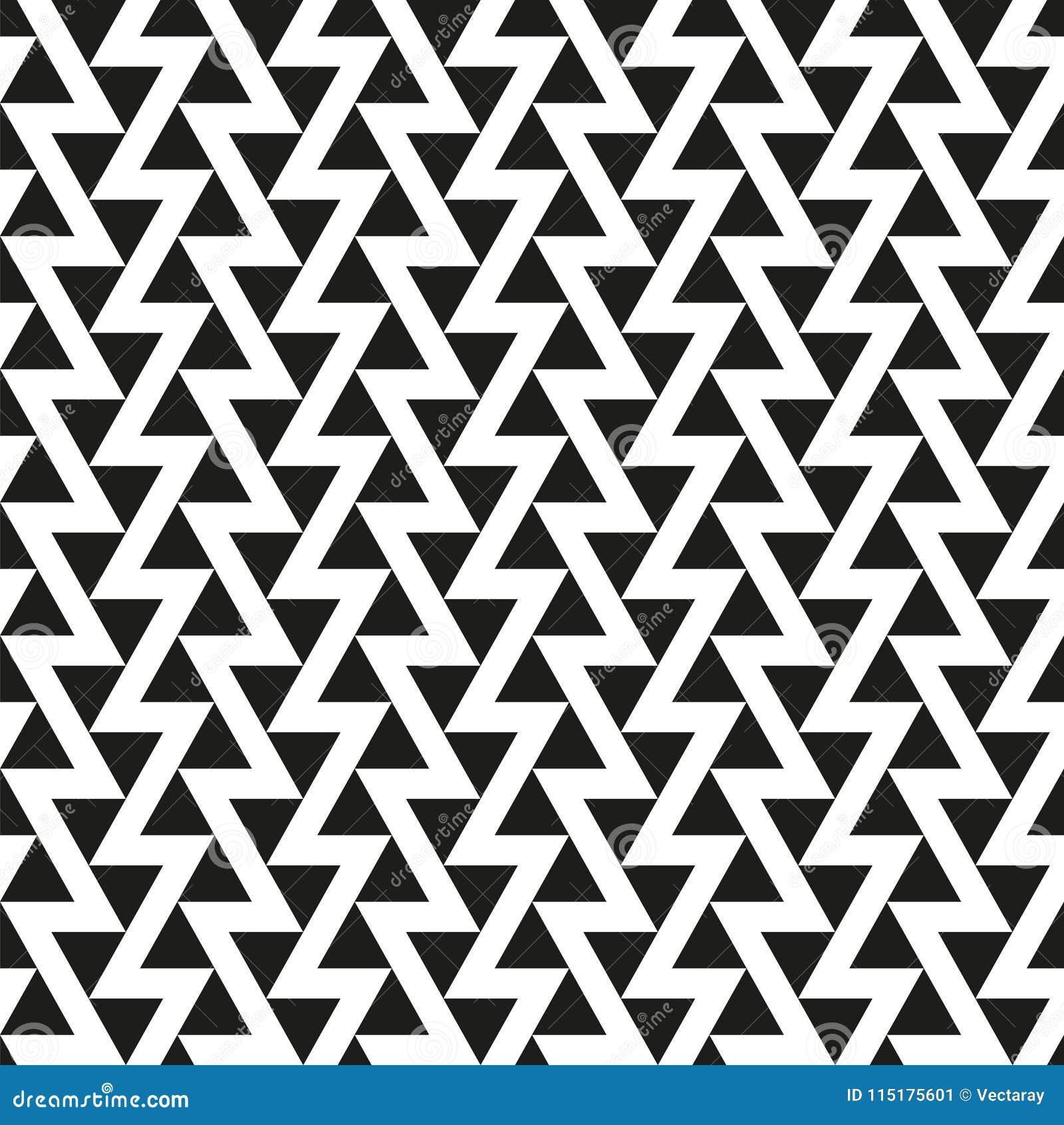 Fond abstrait géométrique sans couture de texture de modèle de triangle