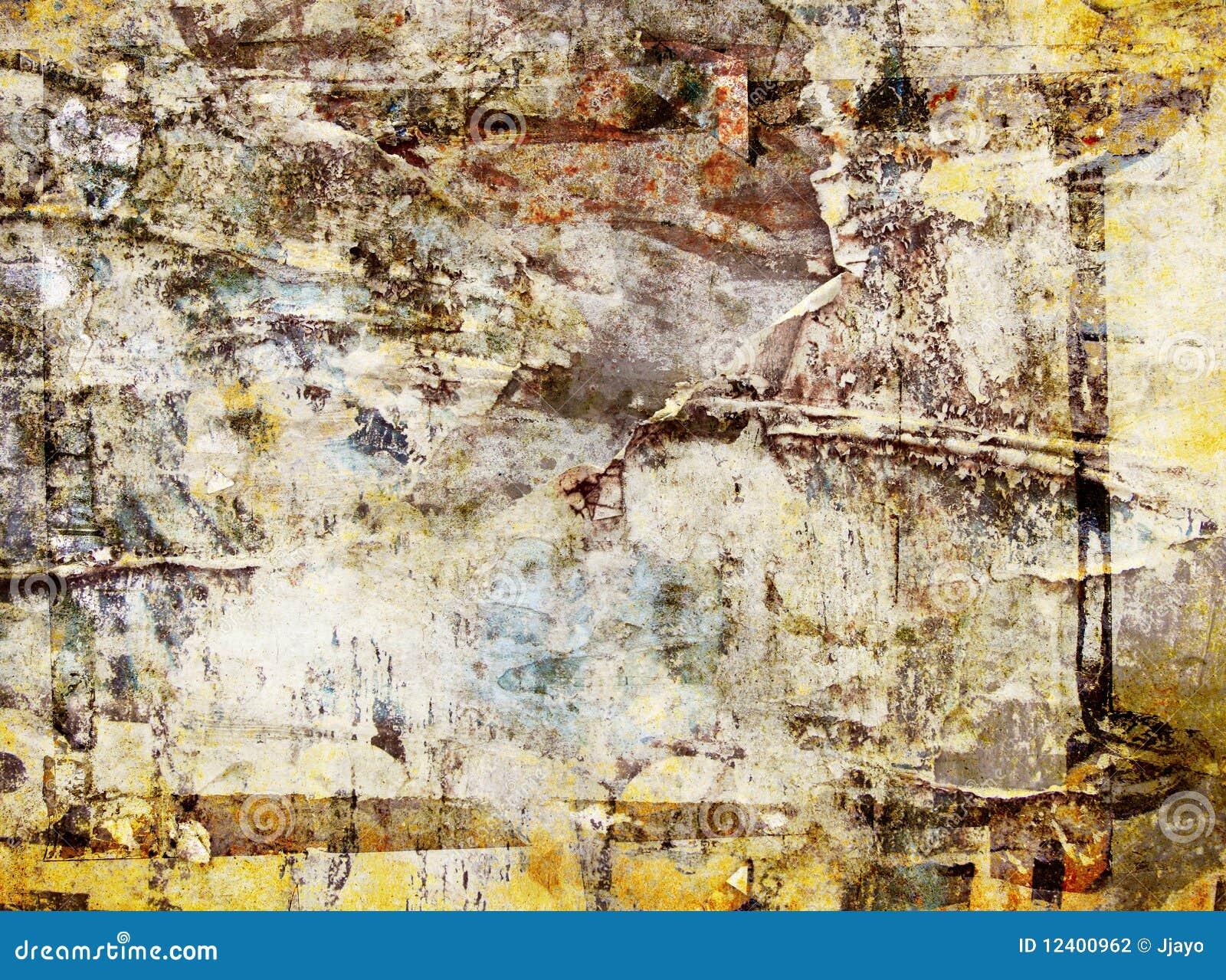 Fond Abstrait Grunge De Mur D Affiche Photographie Stock
