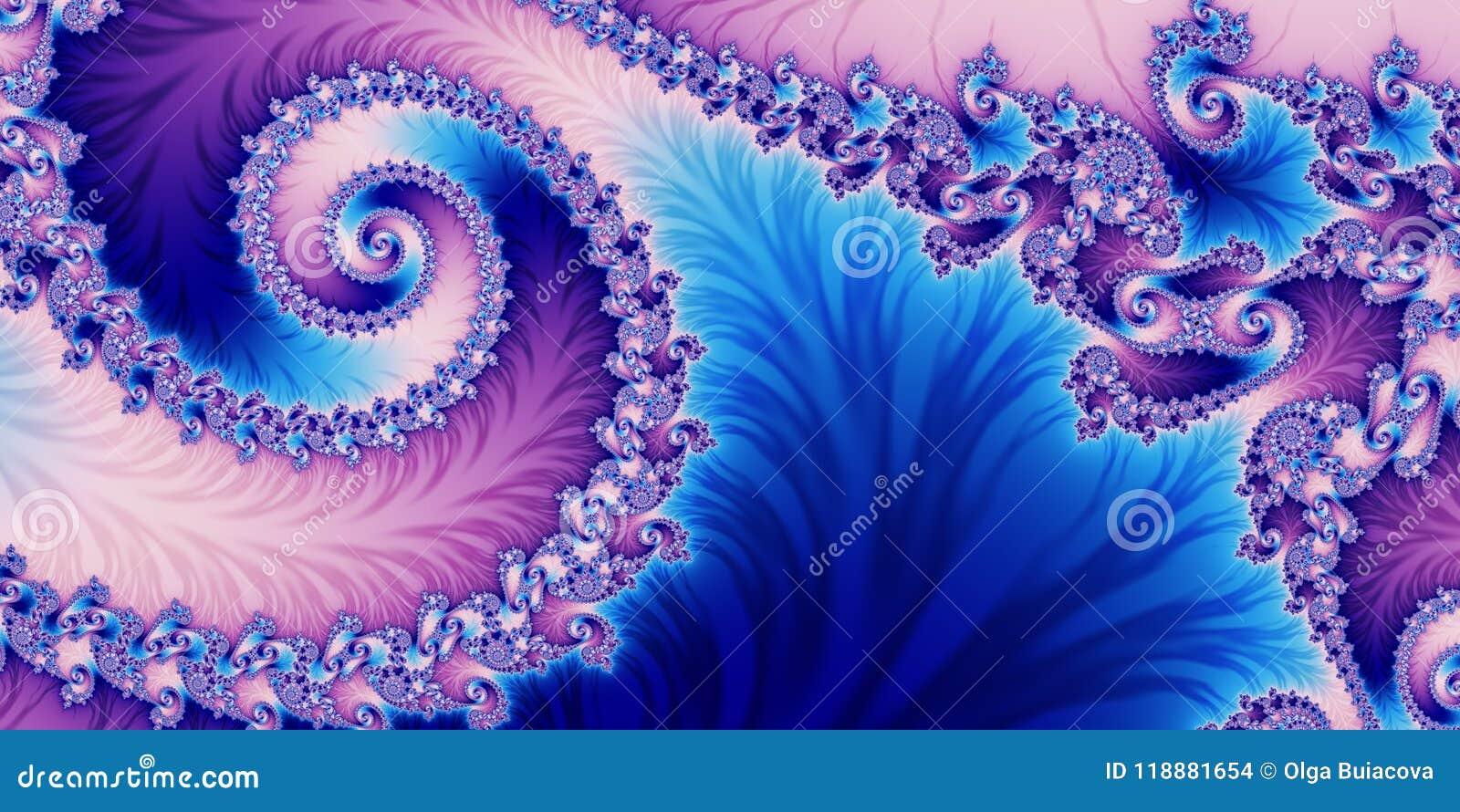 Fond abstrait horizontal fabuleux avec le modèle en spirale vous