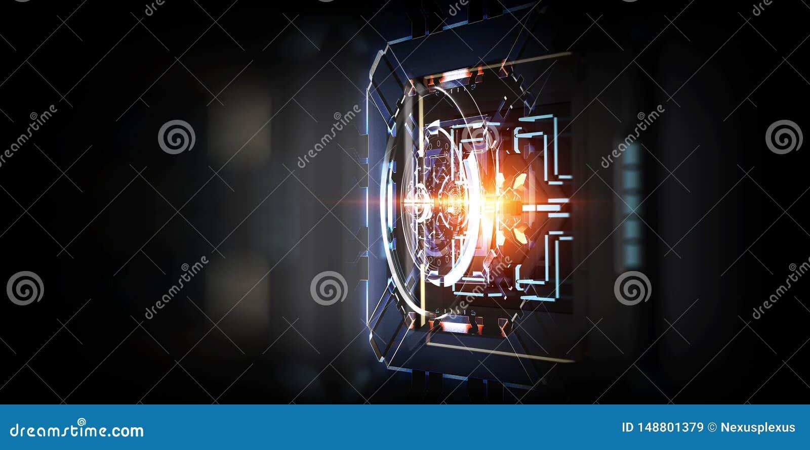 Fond abstrait industriel technologique