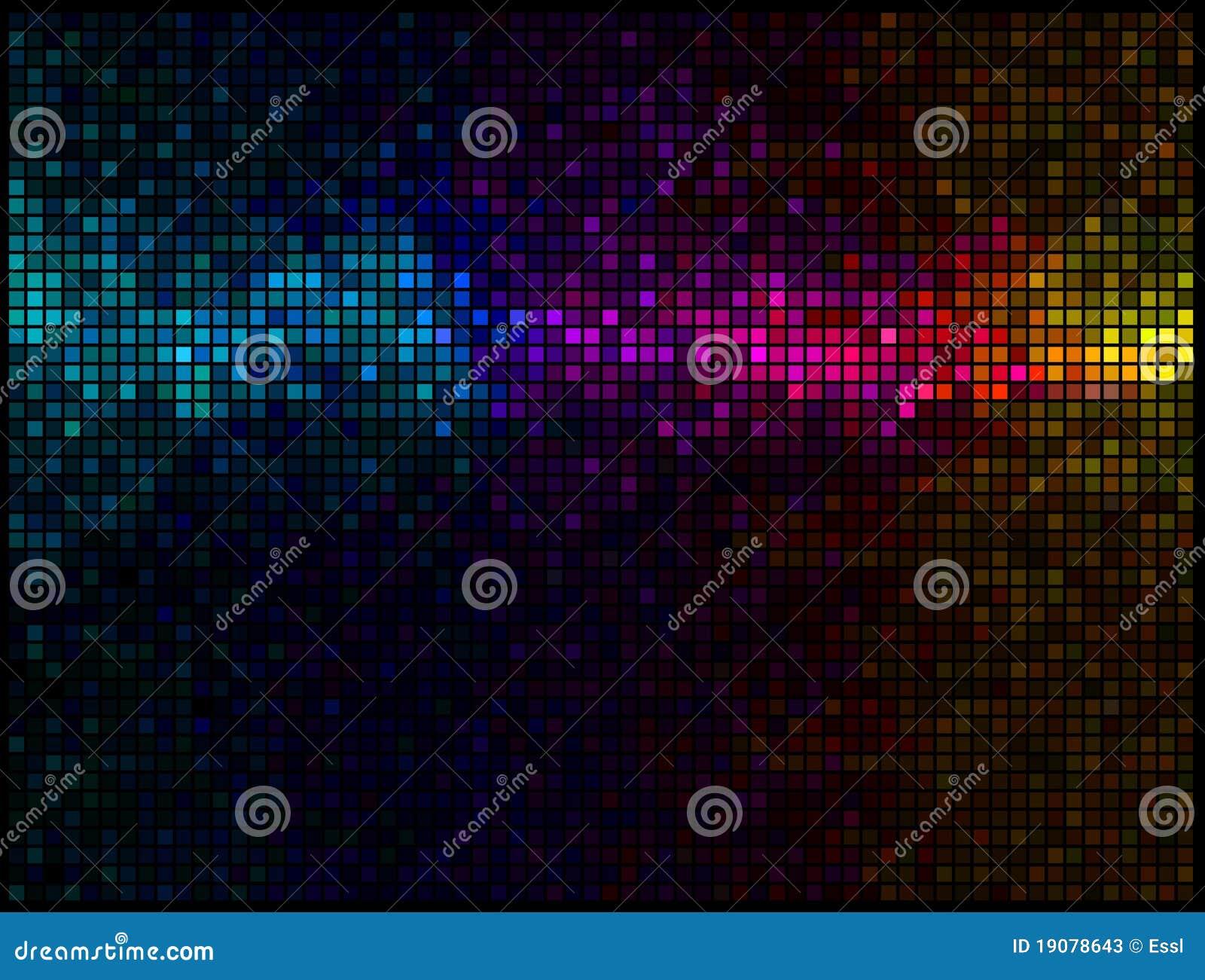 Fond abstrait multicolore de disco