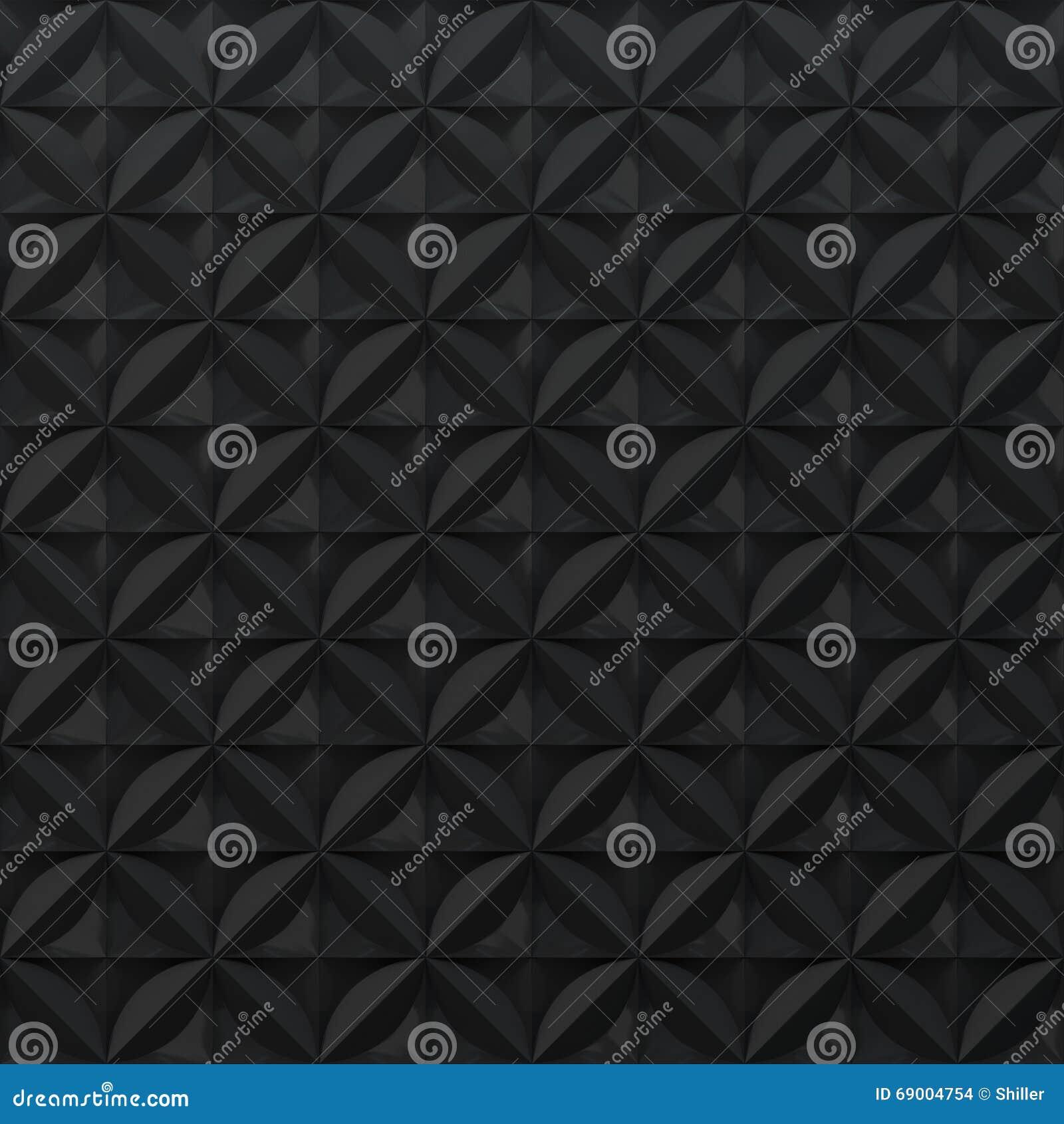 Fond abstrait noir - modèle en relief géométrique