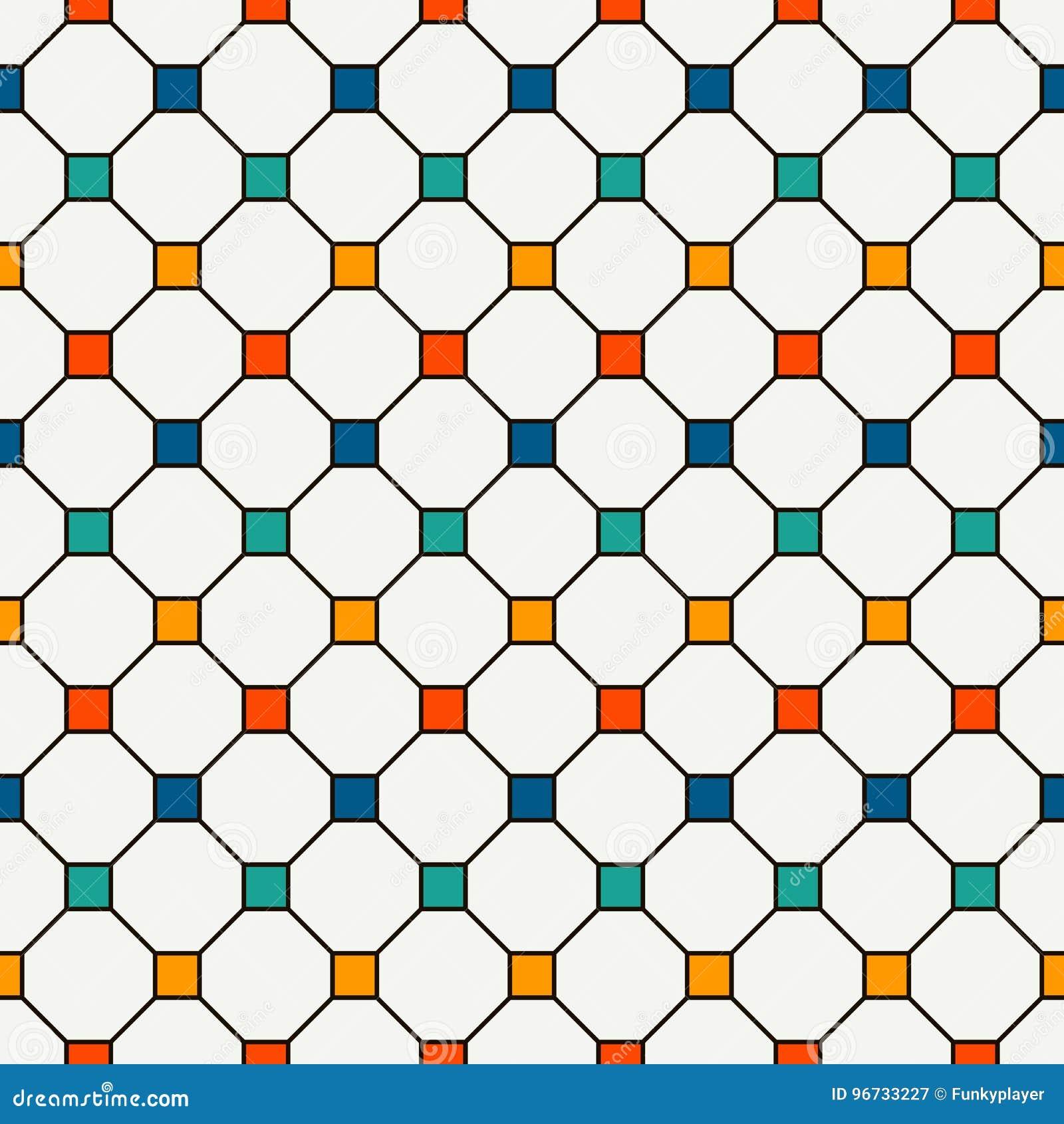 Fond abstrait répété de places lumineuses Modèle sans couture minimaliste avec l ornement géométrique Papier peint Checkered