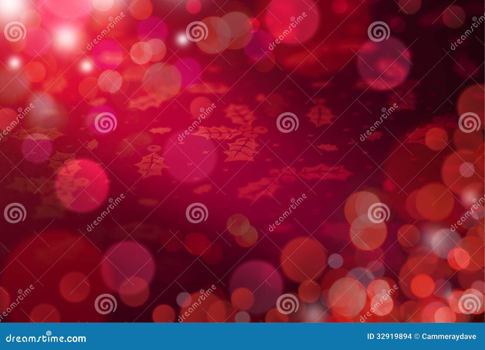 Fond abstrait rouge de lumières de Noël