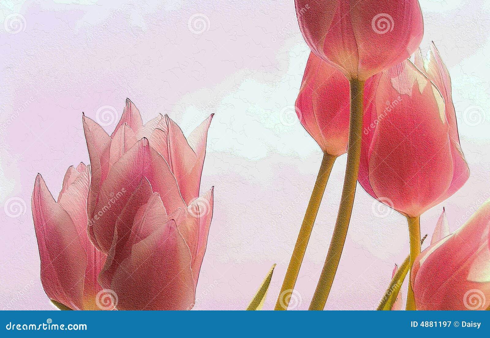 Fond abstrait texturisé de source de tulipe