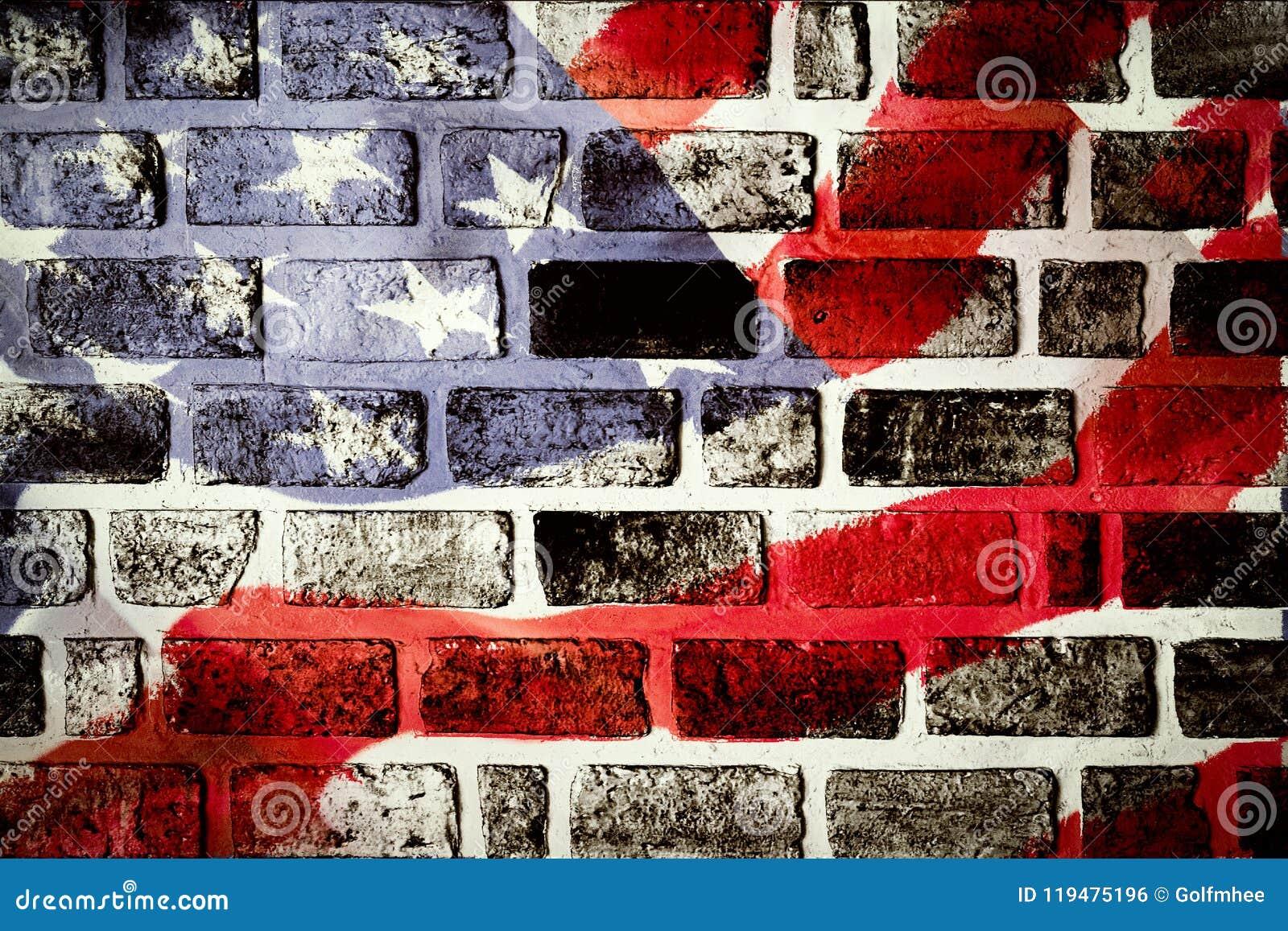 Fond antique de modèle d ondulation de drapeau de l Amérique dans le blanc bleu rouge