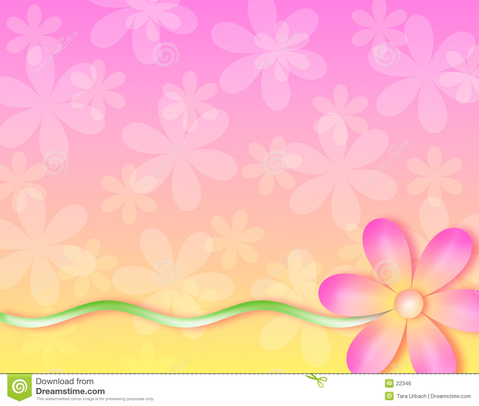 Fond - aucune fleur de mur