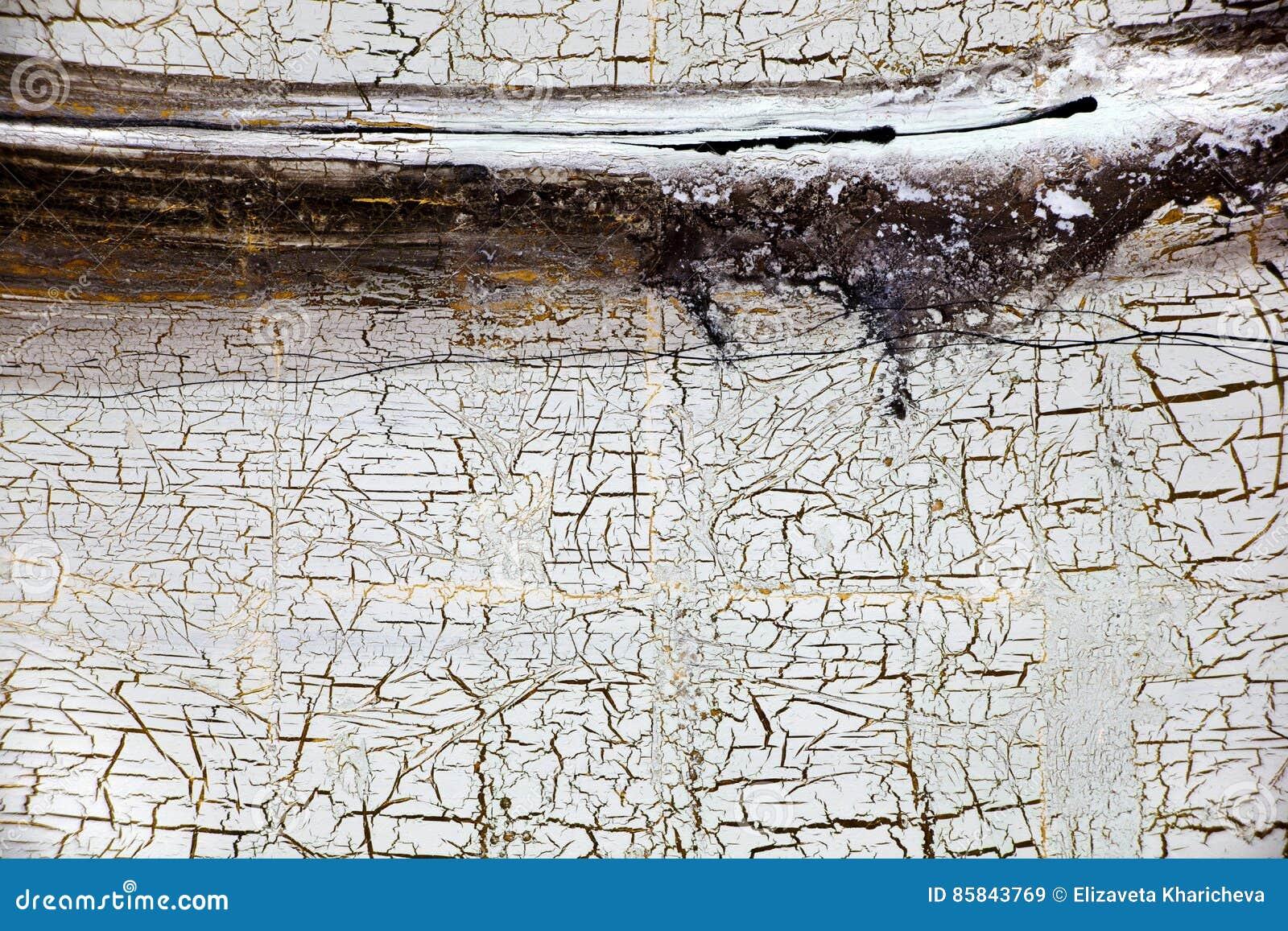 Fond avec de l or, des fissures et des filets de peinture dans le rétro style