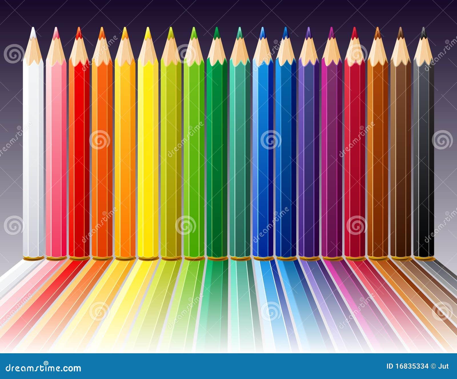fond avec des crayons de couleur illustration de vecteur image 16835334. Black Bedroom Furniture Sets. Home Design Ideas