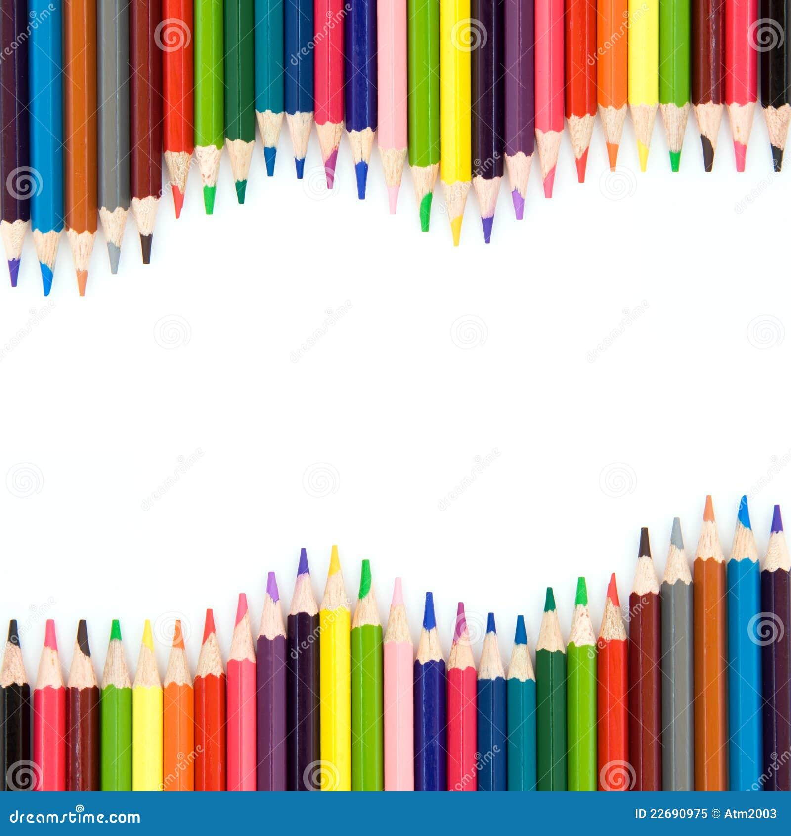 fond avec des crayons de couleur image stock image du panneau ducation 22690975. Black Bedroom Furniture Sets. Home Design Ideas