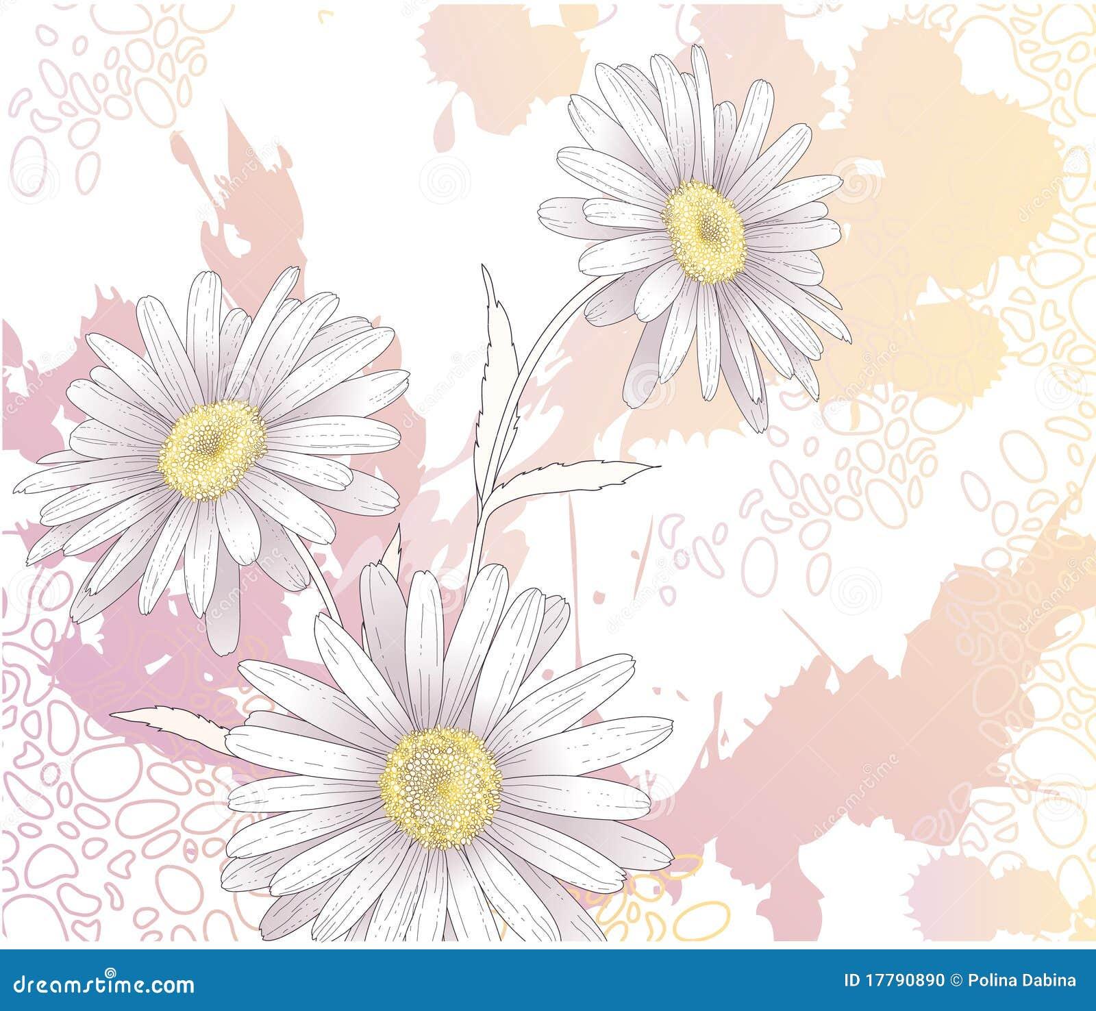 Fond avec des fleurs