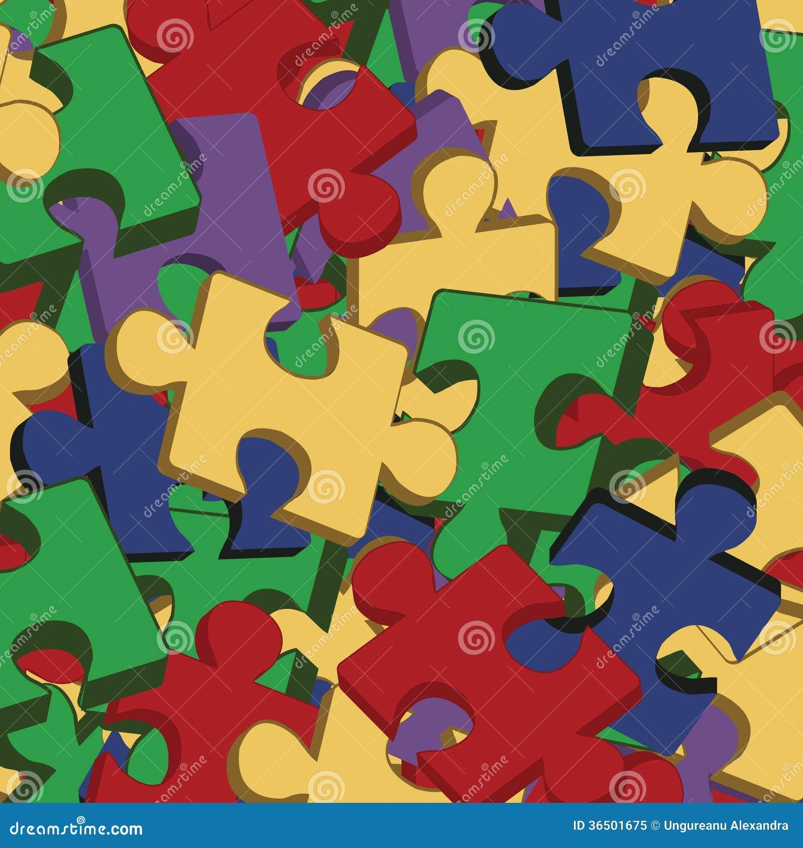 Fond avec des morceaux de puzzle denteux