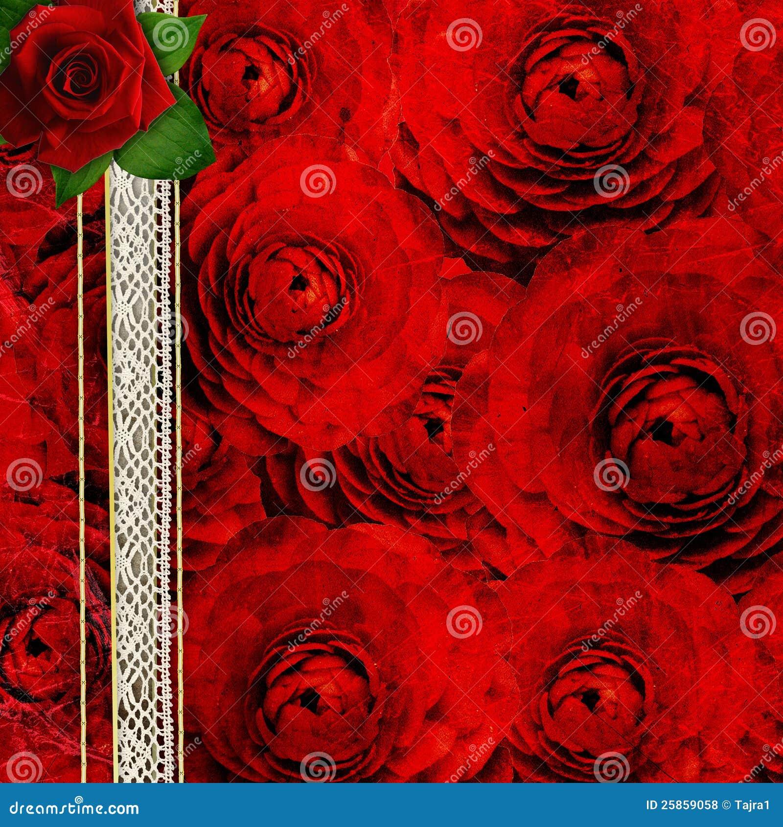Fond avec des roses pour le DES de cache