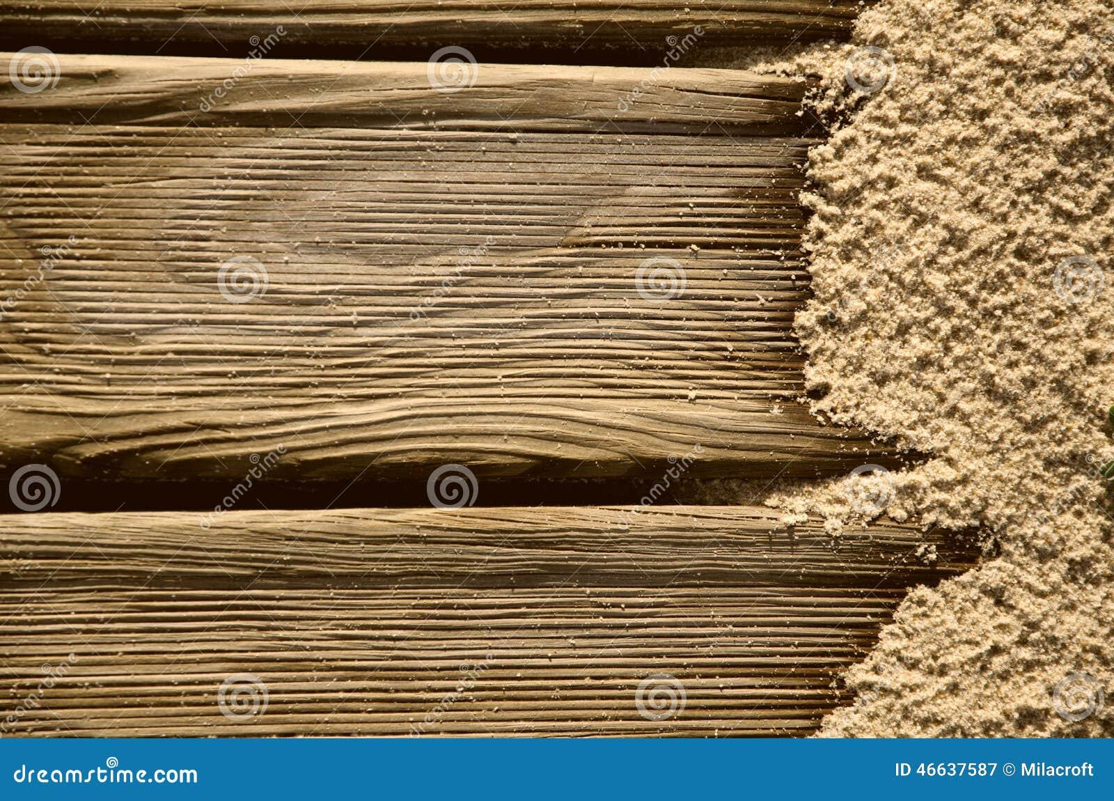 fond avec du bois et le sable image stock image 46637587. Black Bedroom Furniture Sets. Home Design Ideas