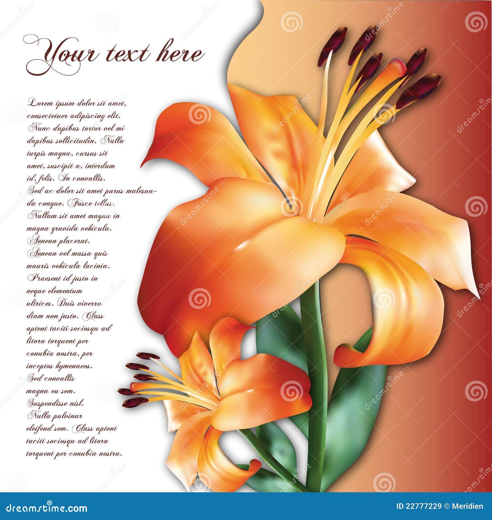 Fond avec la fleur