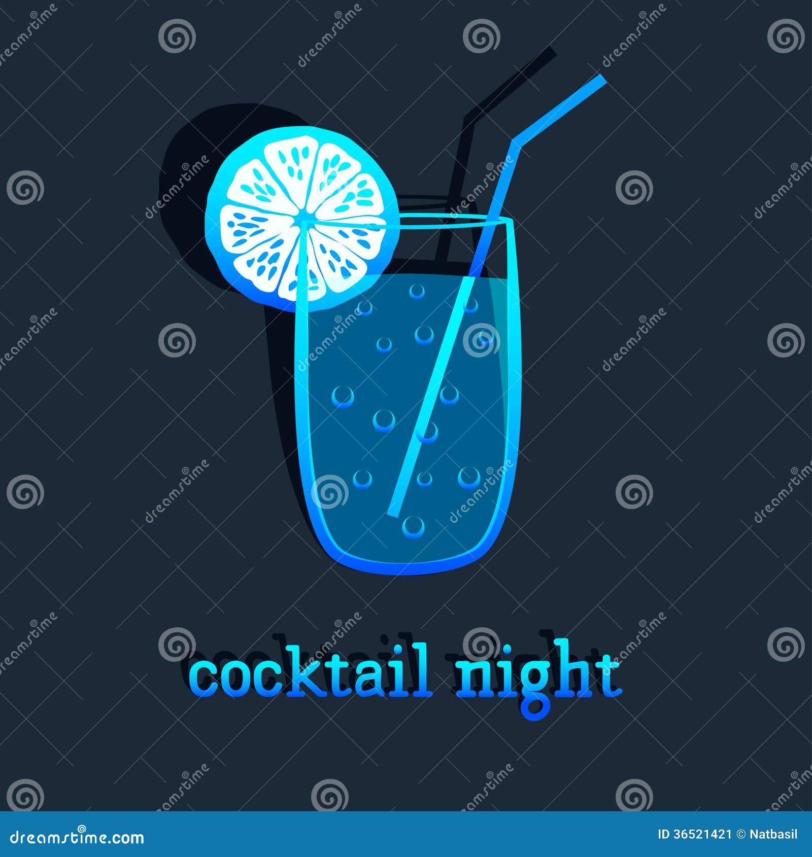 Fond avec le cocktail