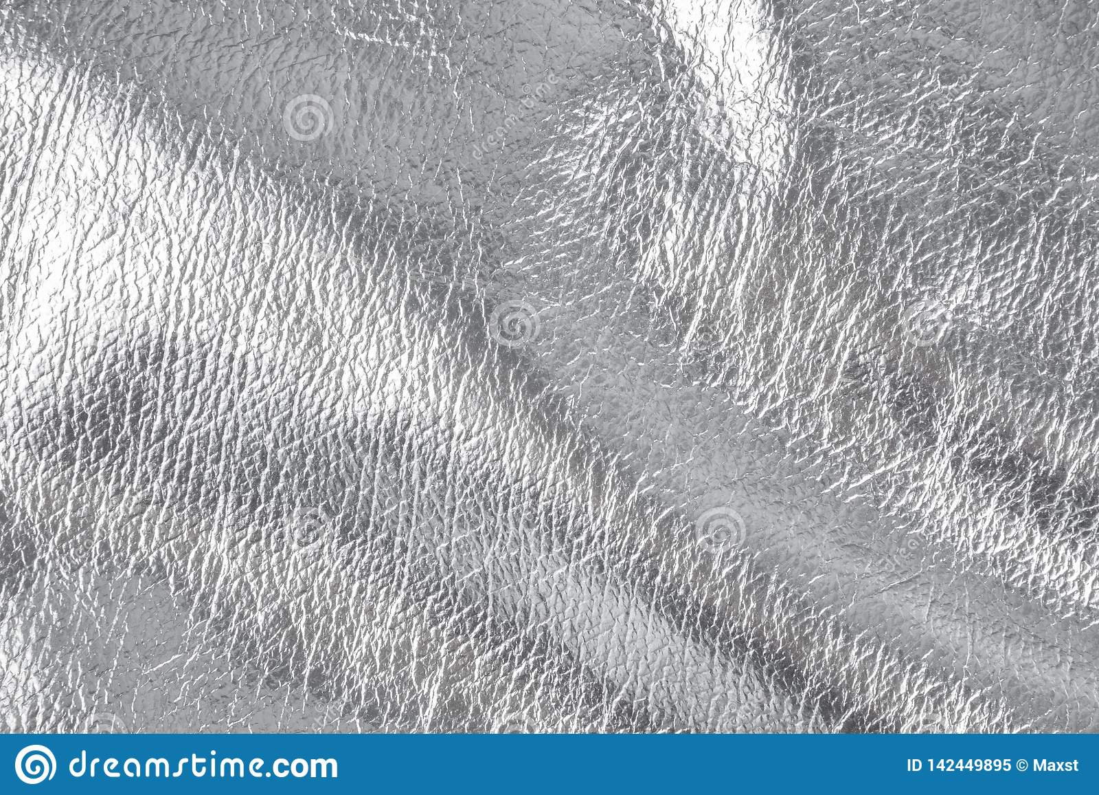 Fond avec le matériel de textile argenté, fin image de photo vers le haut d †«