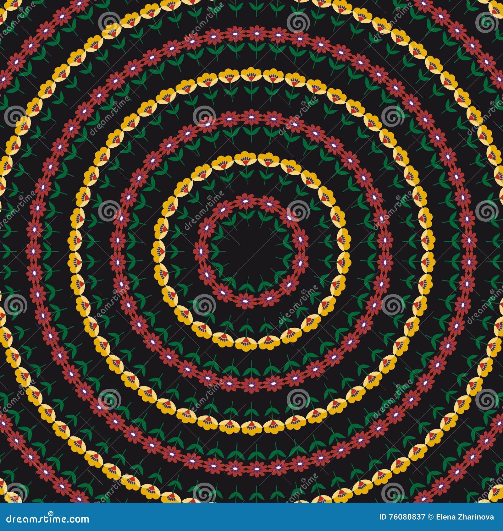 Fond avec le modèle de fleurs abstrait de cercle