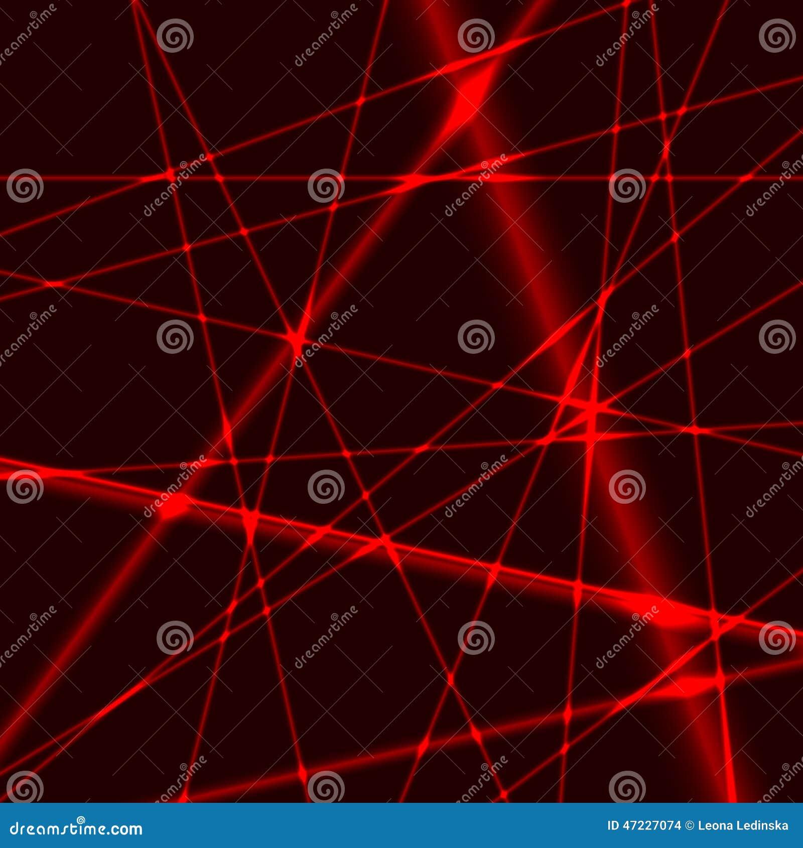 Fond avec les faisceaux aléatoires rouges de laser