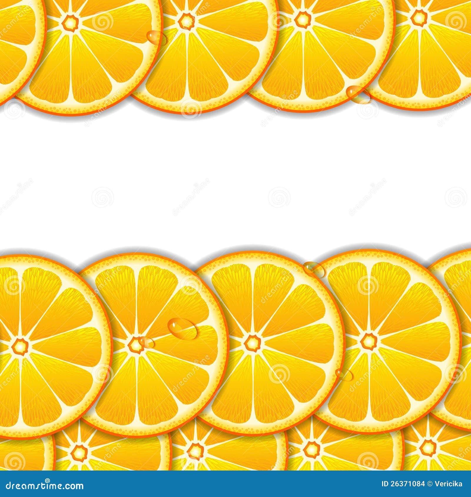 Fond avec les parts oranges