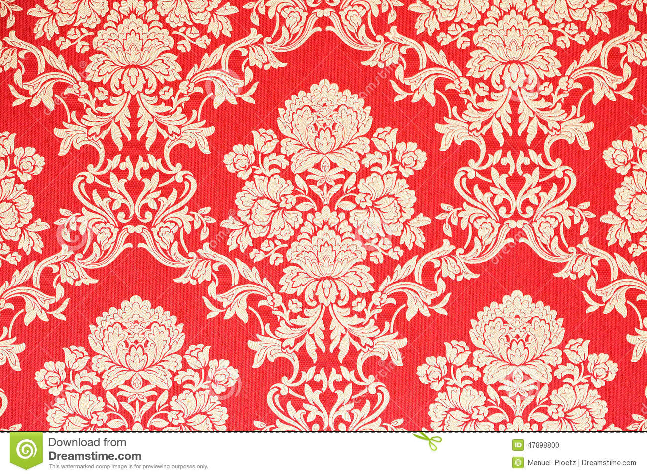 Fond Baroque Rouge De Papier Peint Illustration Stock Illustration