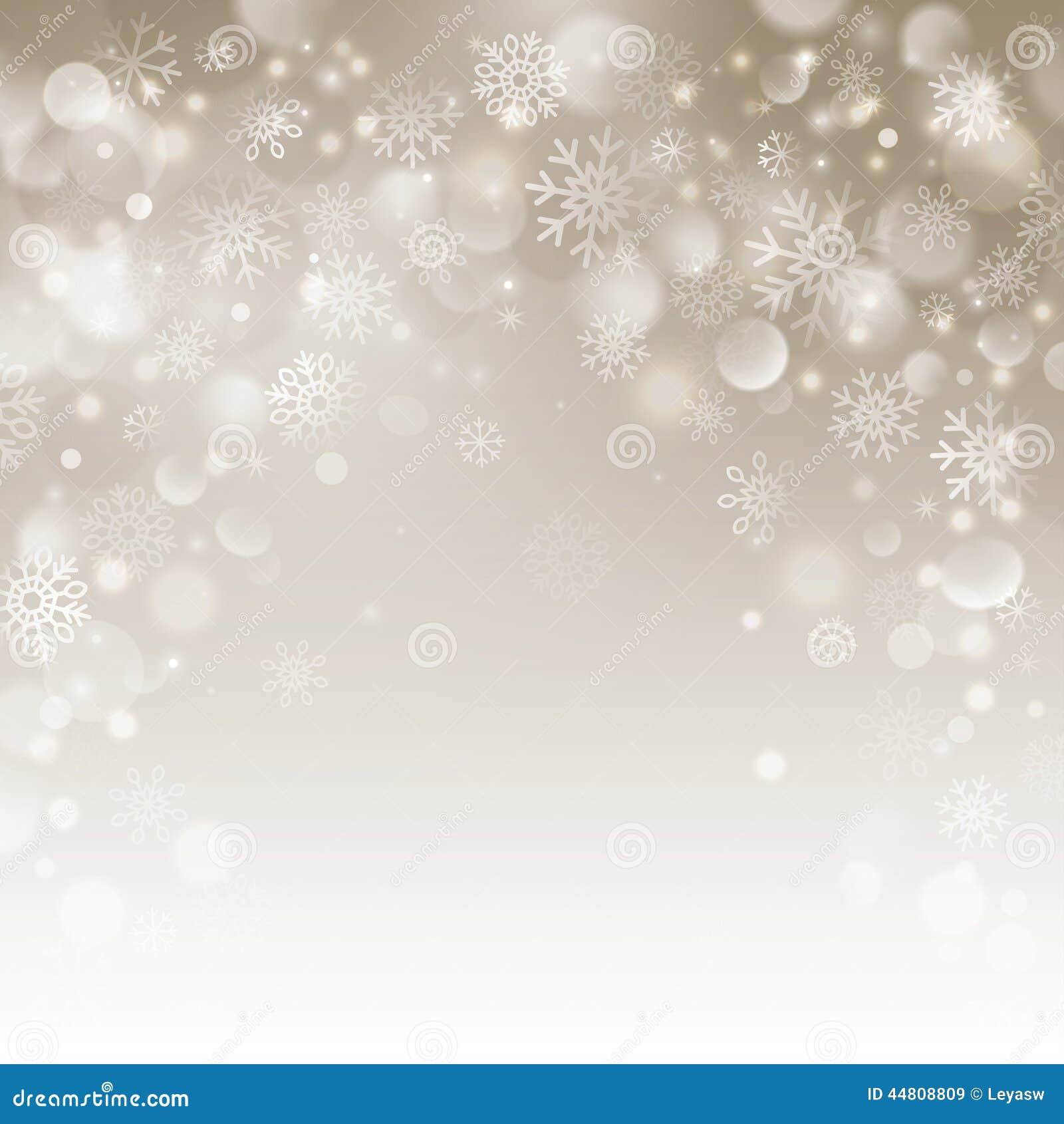 Fond Beige De Noël Avec Des Flocons De Neige Illustration