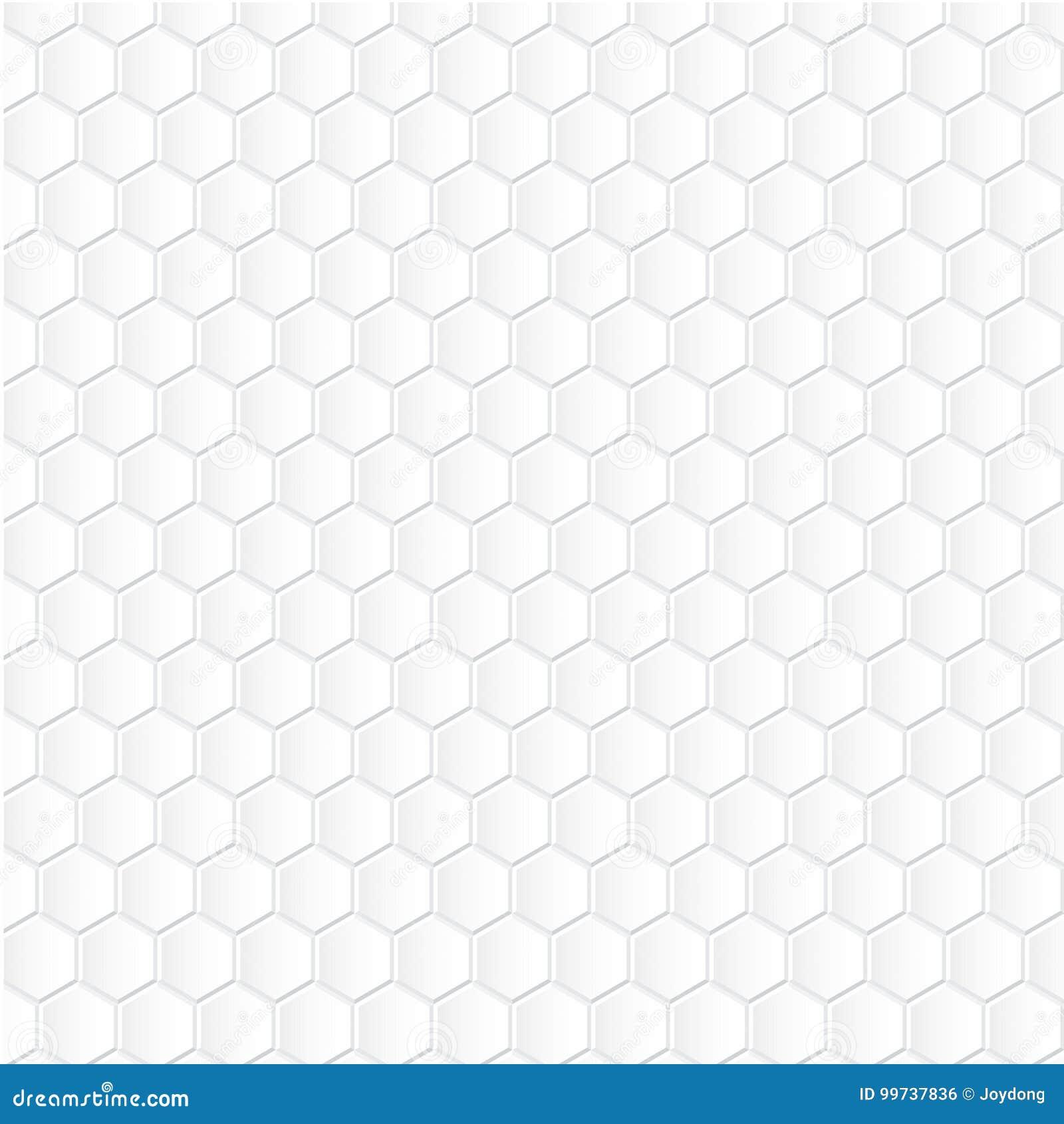 Fond blanc d hexagone