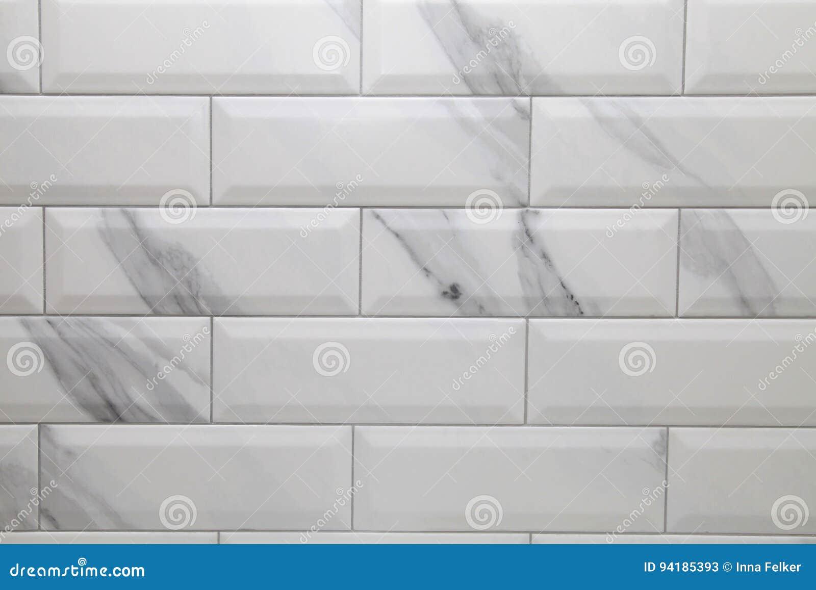Fond Blanc De Carreau De C Ramique De M Tro Image Stock Image Du