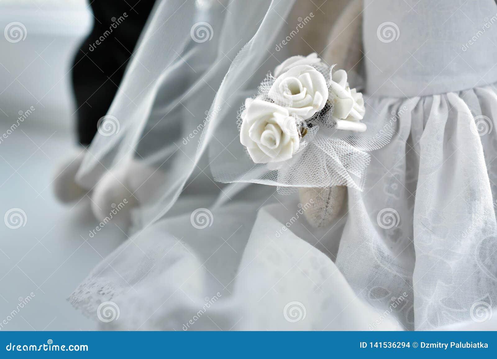 Fond blanc de mariage Fleur blanche