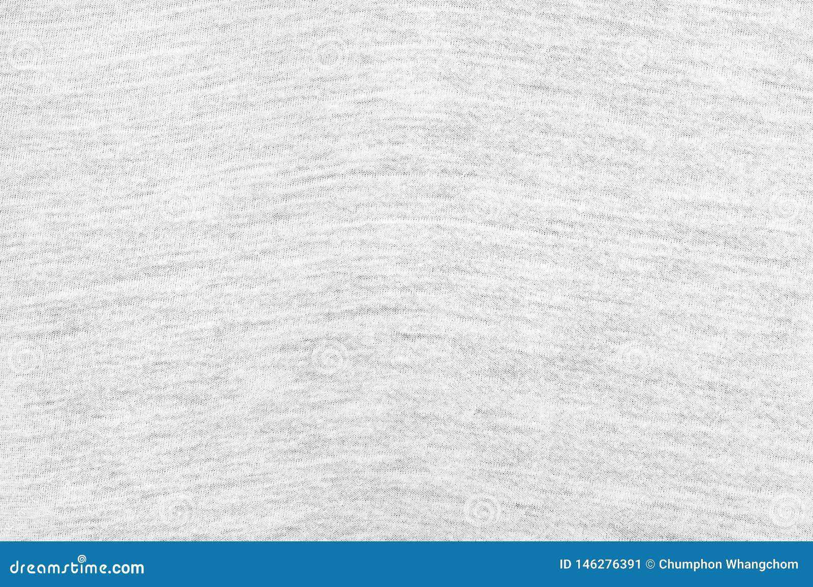 Fond blanc de texture de tissu D?tail de mat?riel de textile