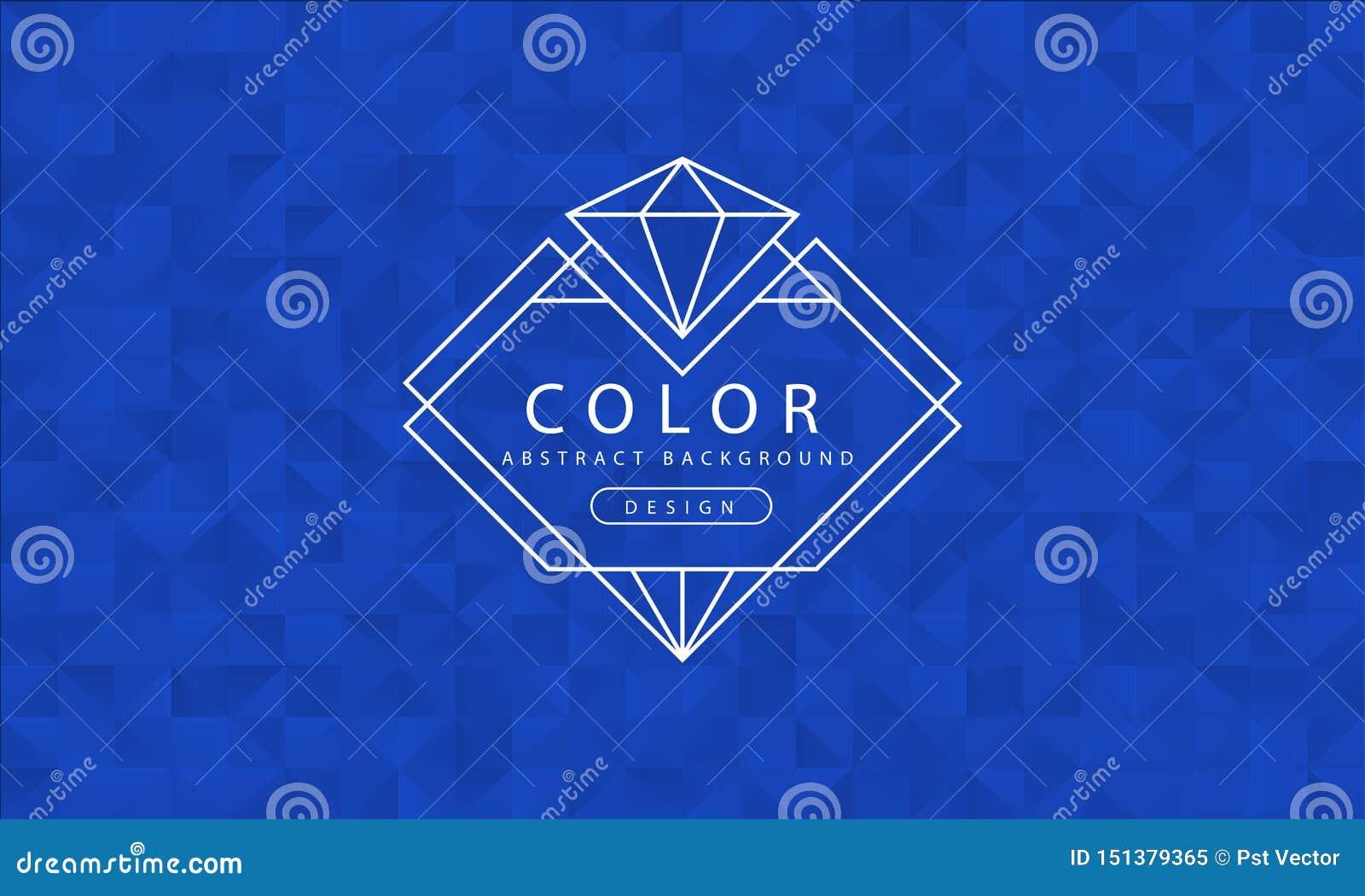 Fond bleu abstrait, textures bleues, papier peint bleu de bannière, couleur bleue de polygone, illustration de vecteur