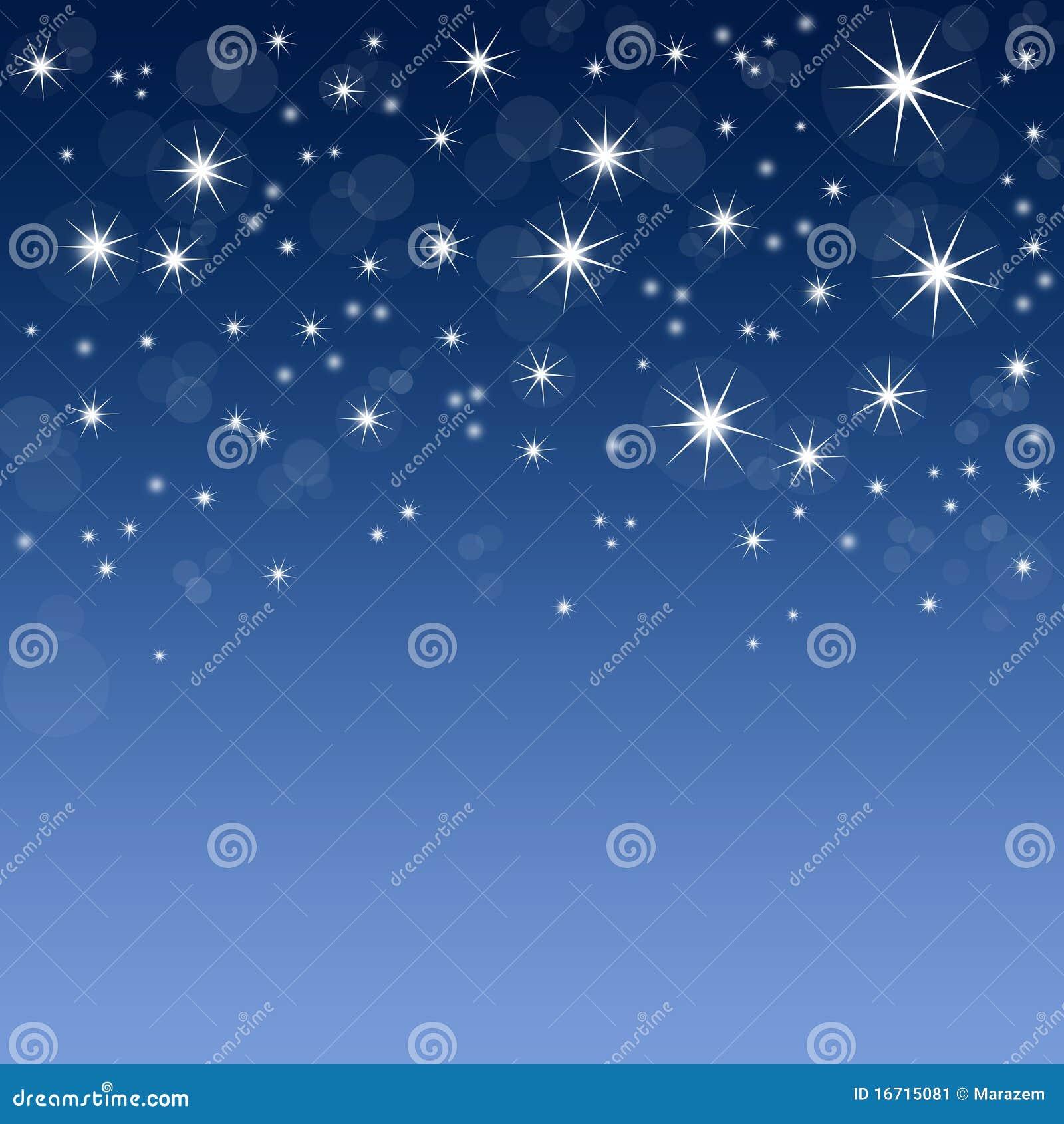 Fond bleu avec des étoiles