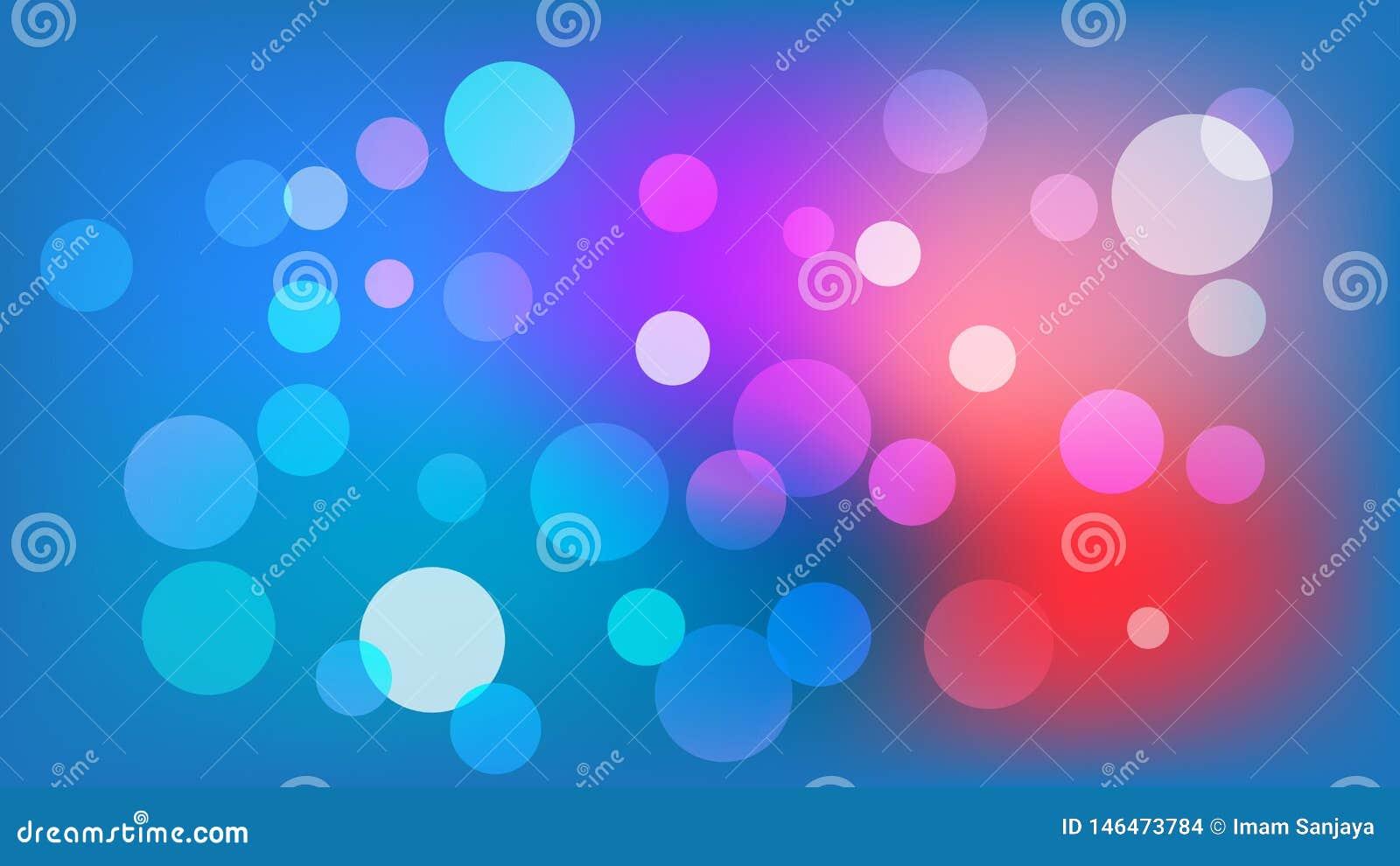 Fond bleu-clair de vecteur avec des cercles Illustration avec l ensemble de briller la gradation color?e Mod?le pour des livrets,