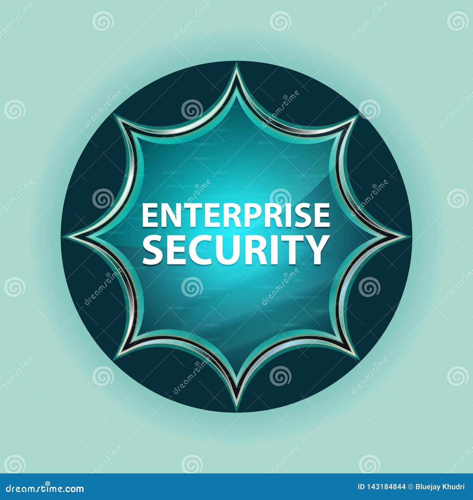Fond bleu de bleu de ciel de bouton de rayon de soleil vitreux magique de sécurité d entreprise