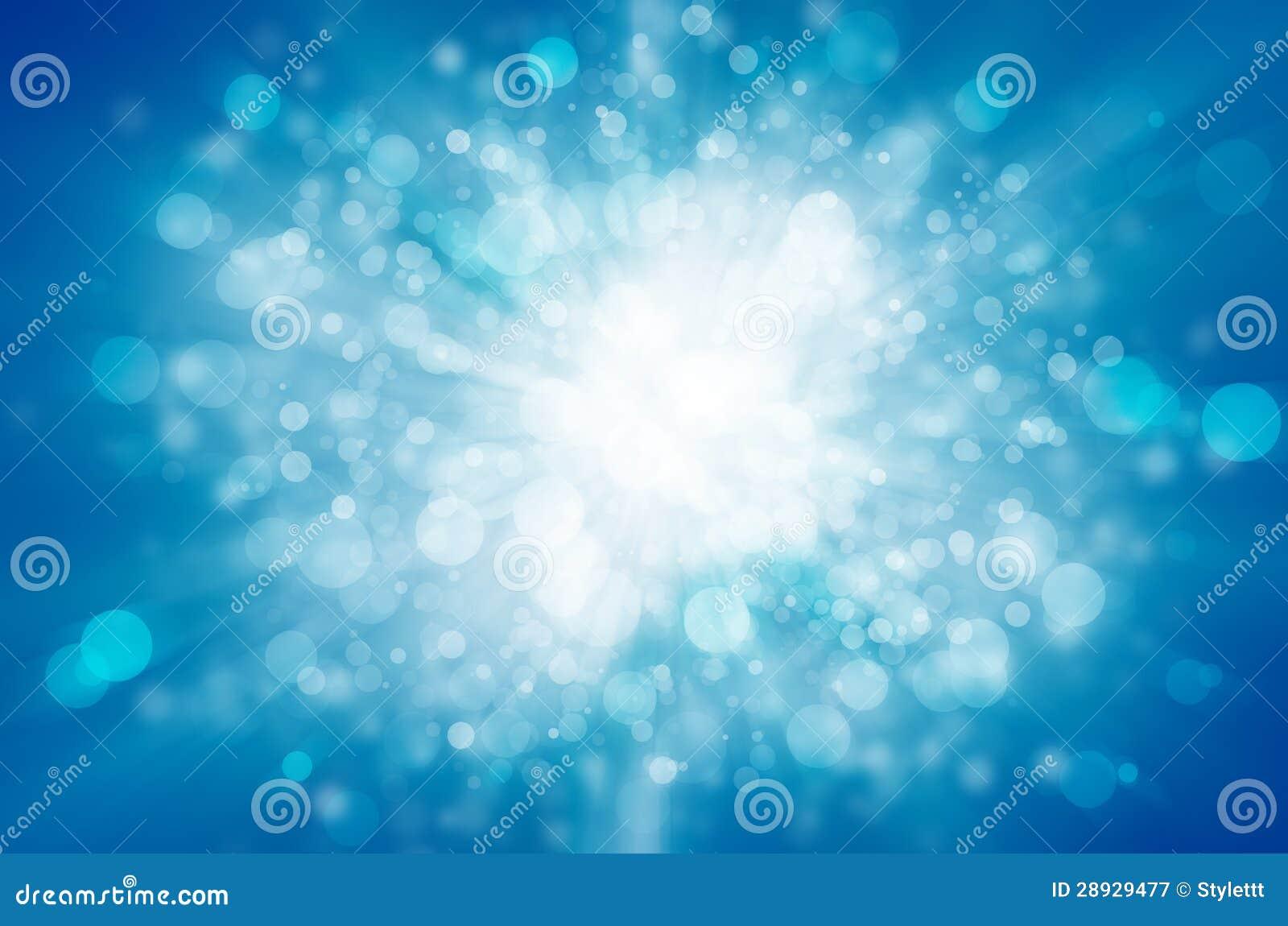 Fond bleu de lumière d abrégé sur bokeh