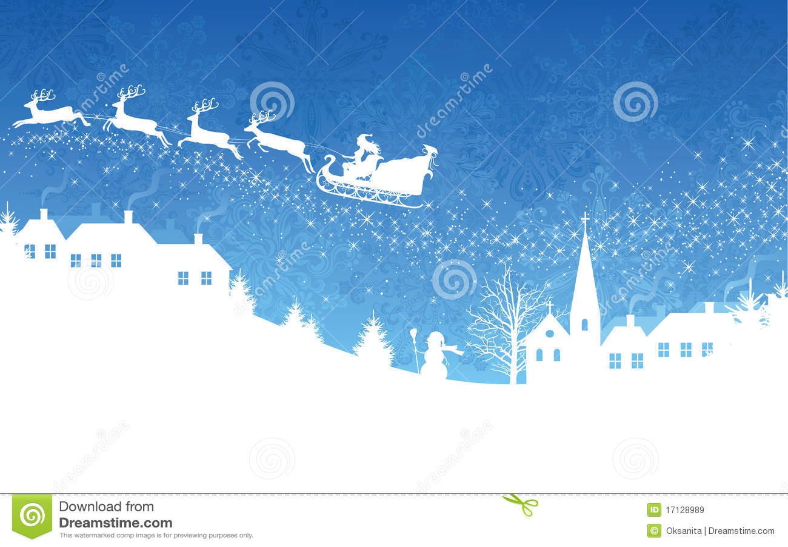 Fond bleu de Noël.