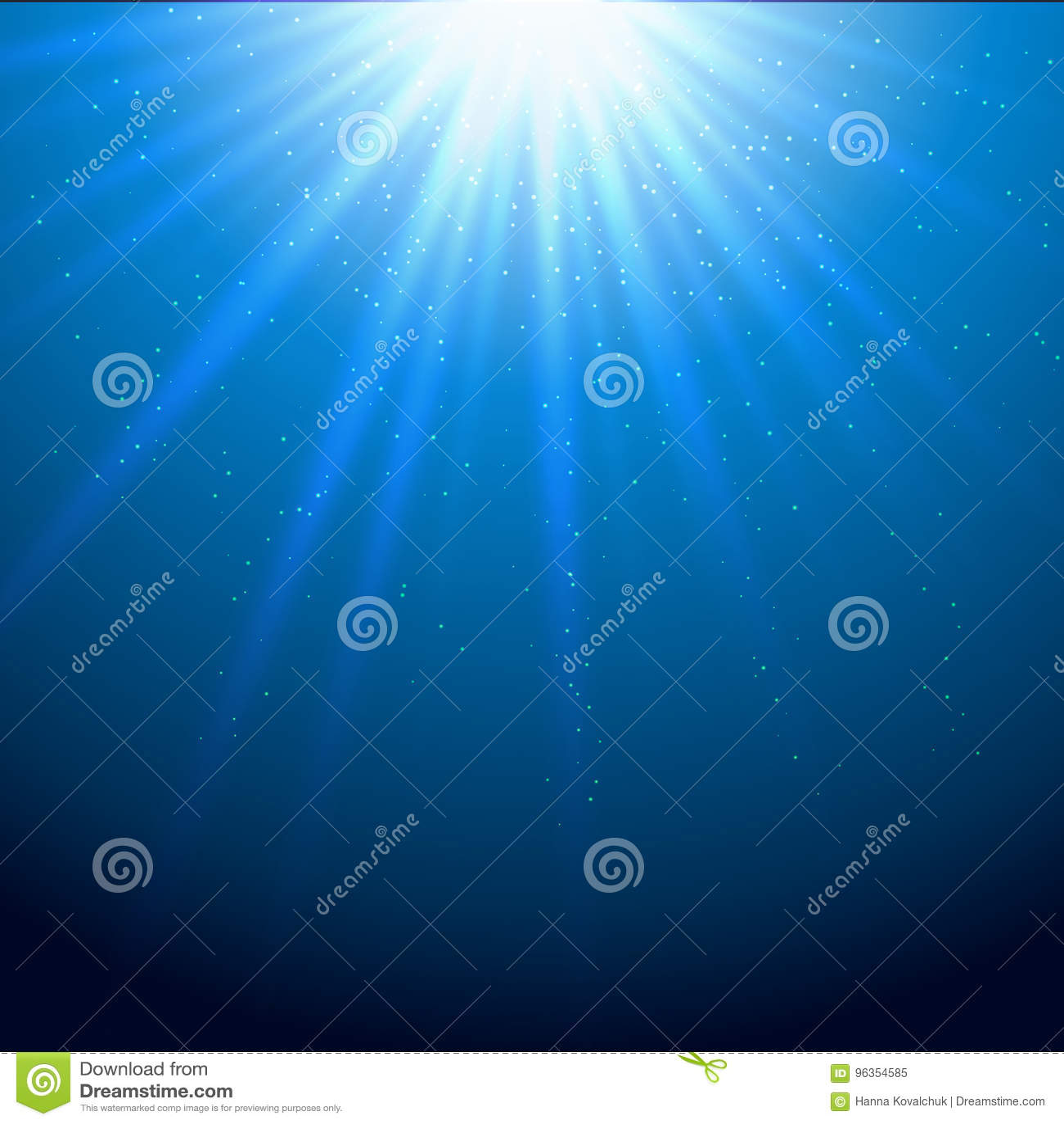 Fond bleu de scintillement de faisceaux lumineux