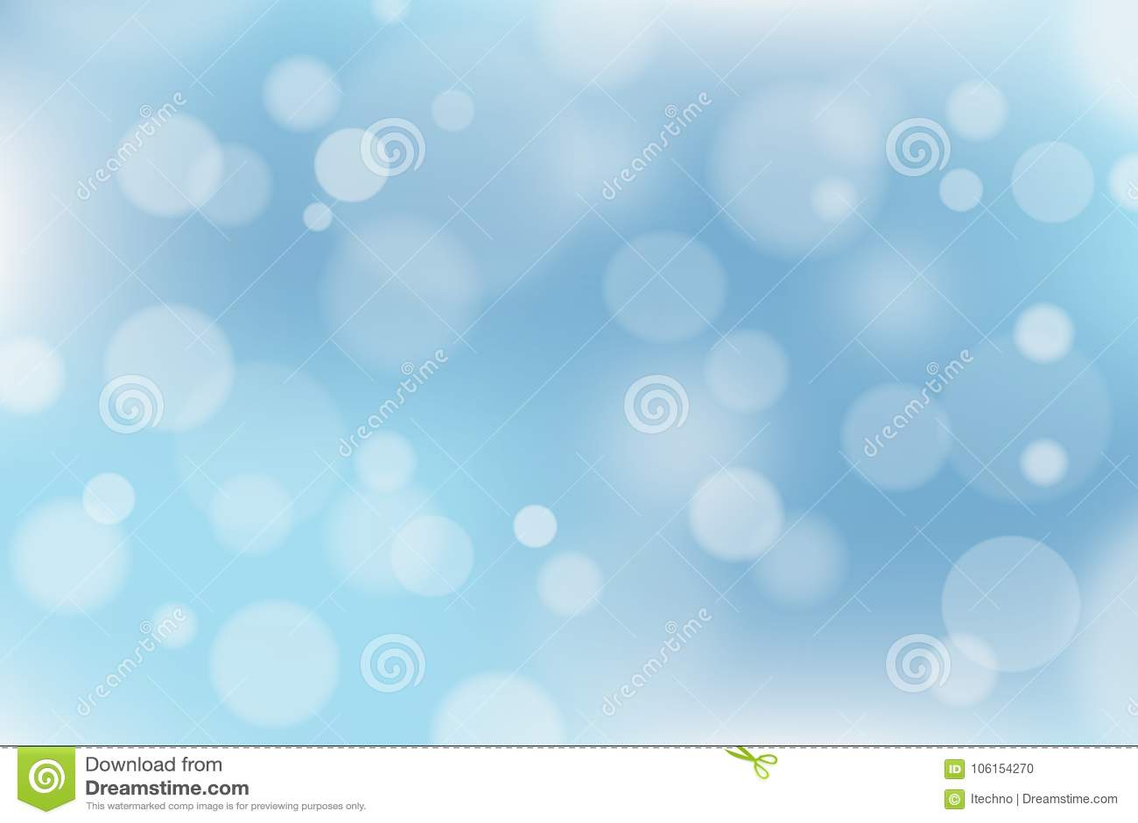 Fond bleu et blanc abstrait avec l effet de bokeh