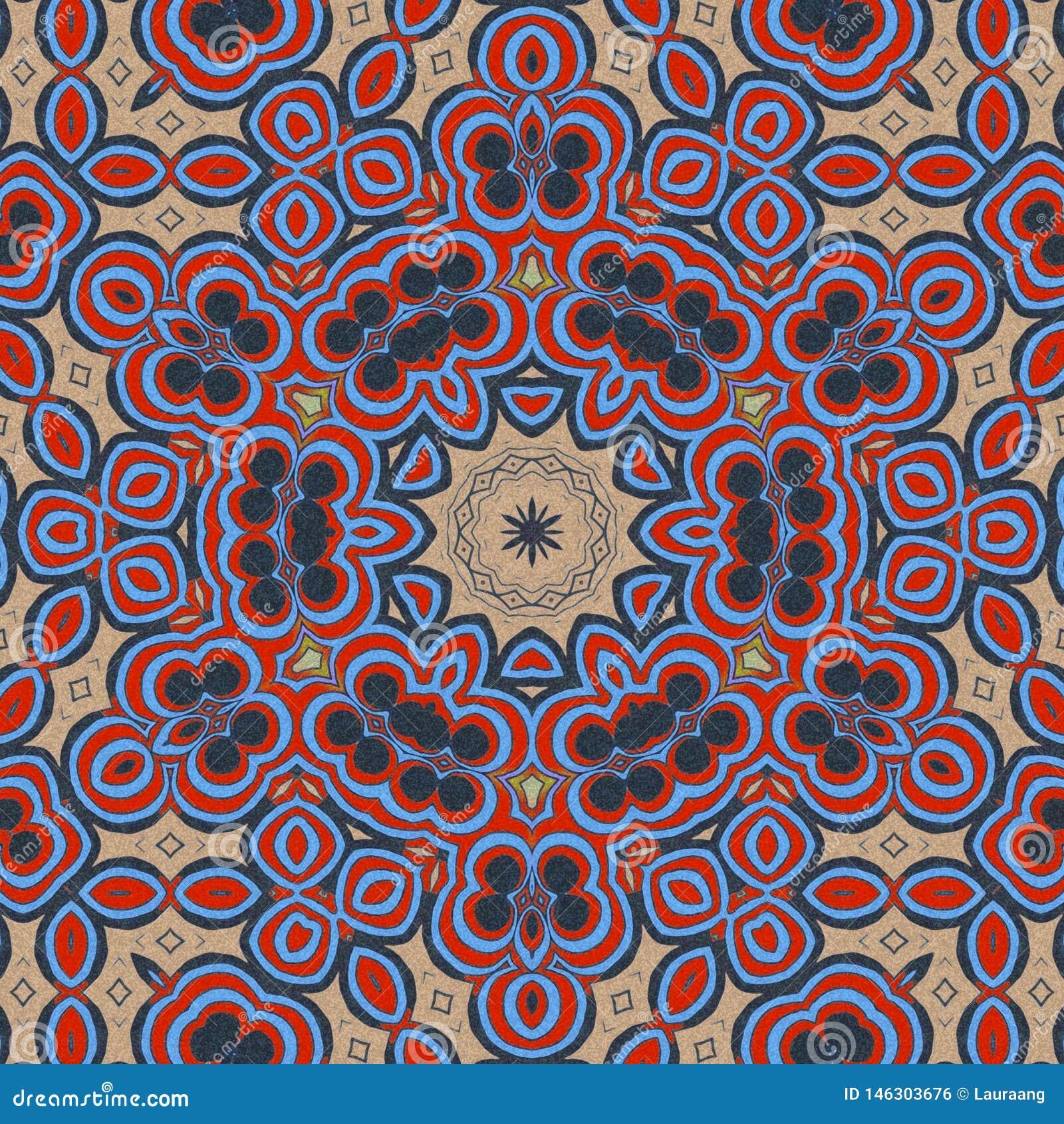 Fond bleu et rouge aspiration abstraite