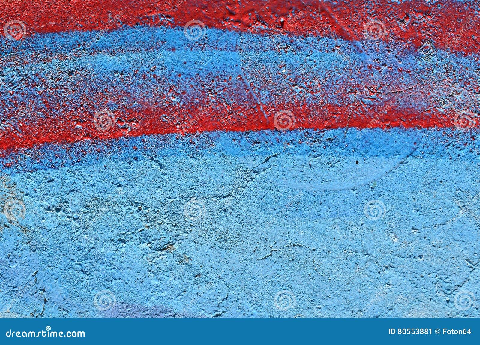 Fond bleu et rouge de peinture