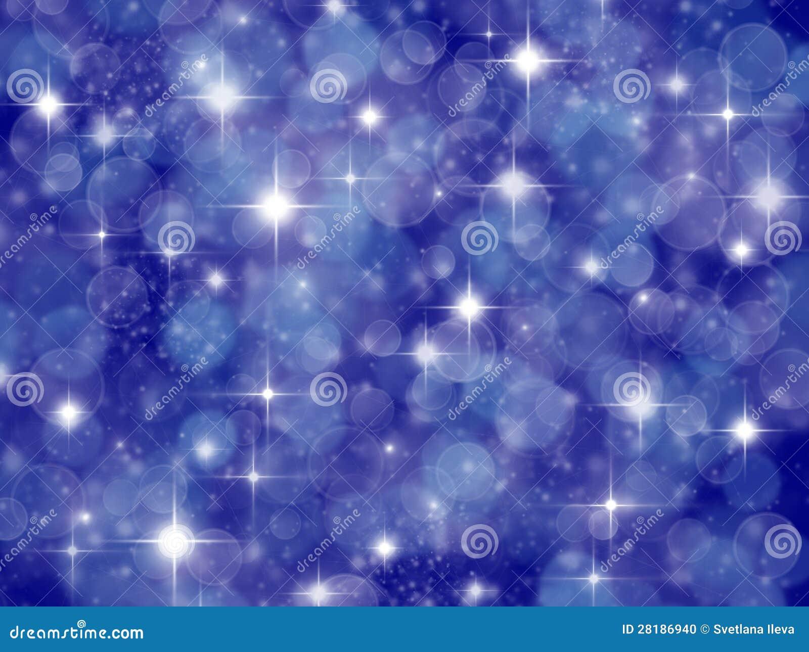 fond bleu fonc avec l 39 effet et les toiles de boke photo stock image 28186940. Black Bedroom Furniture Sets. Home Design Ideas