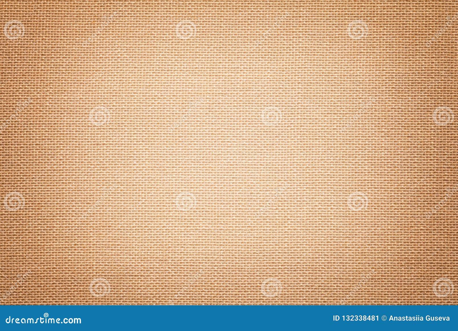 Fond brun clair d un matériel de textile avec le modèle en osier, plan rapproché