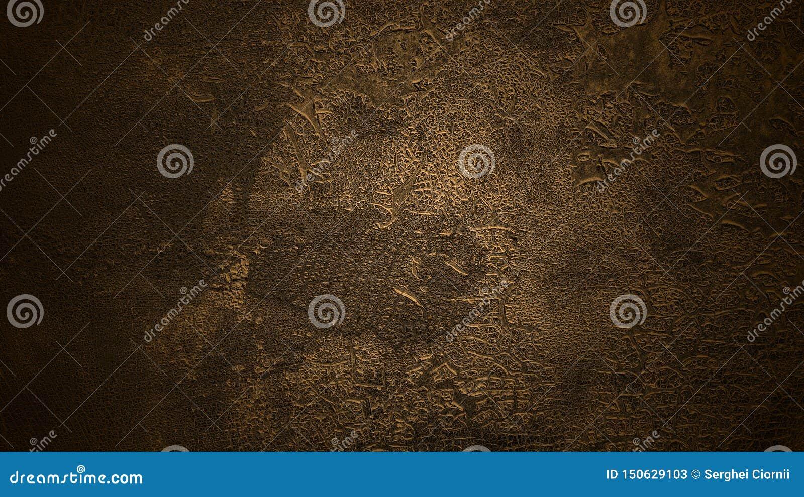 Fond brun-foncé ombragé Vieille surface criqu?e L écaillement âgé a teint la texture en cuir