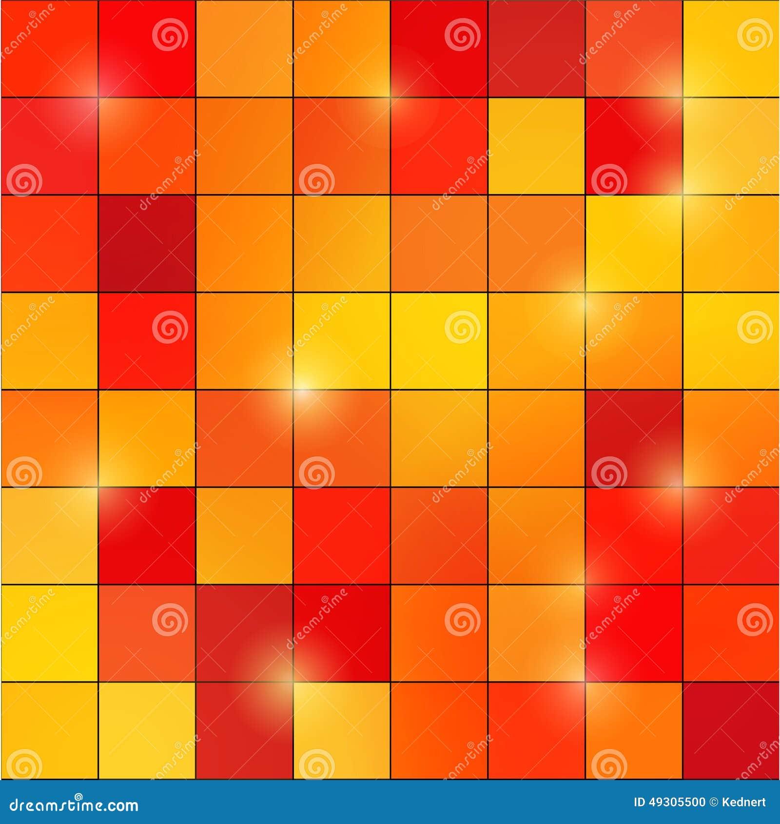 Fond carré de mosaïque de pixel coloré par résumé