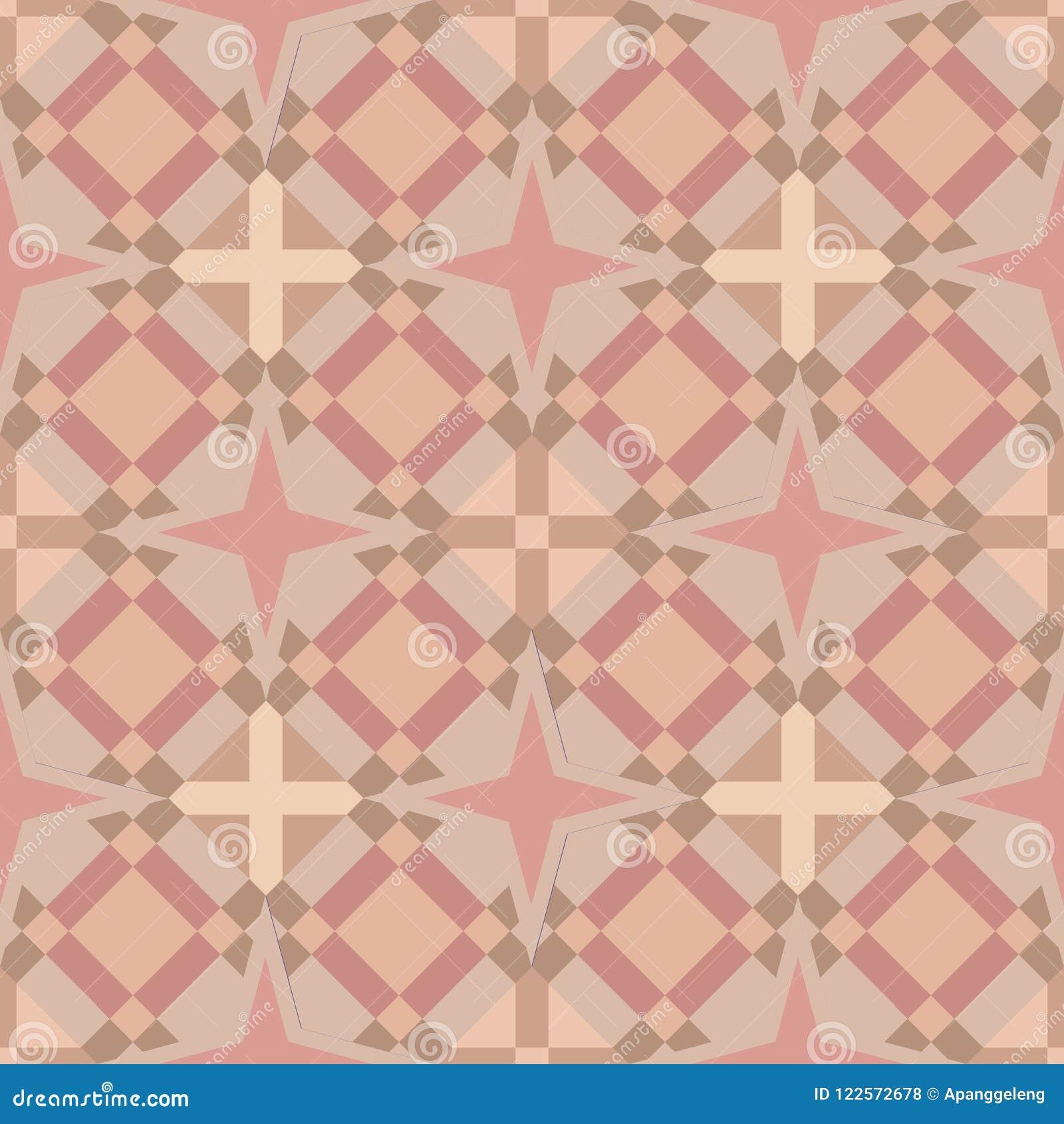Fond carré géométrique sans couture de tuile dans des couleurs de peau douces